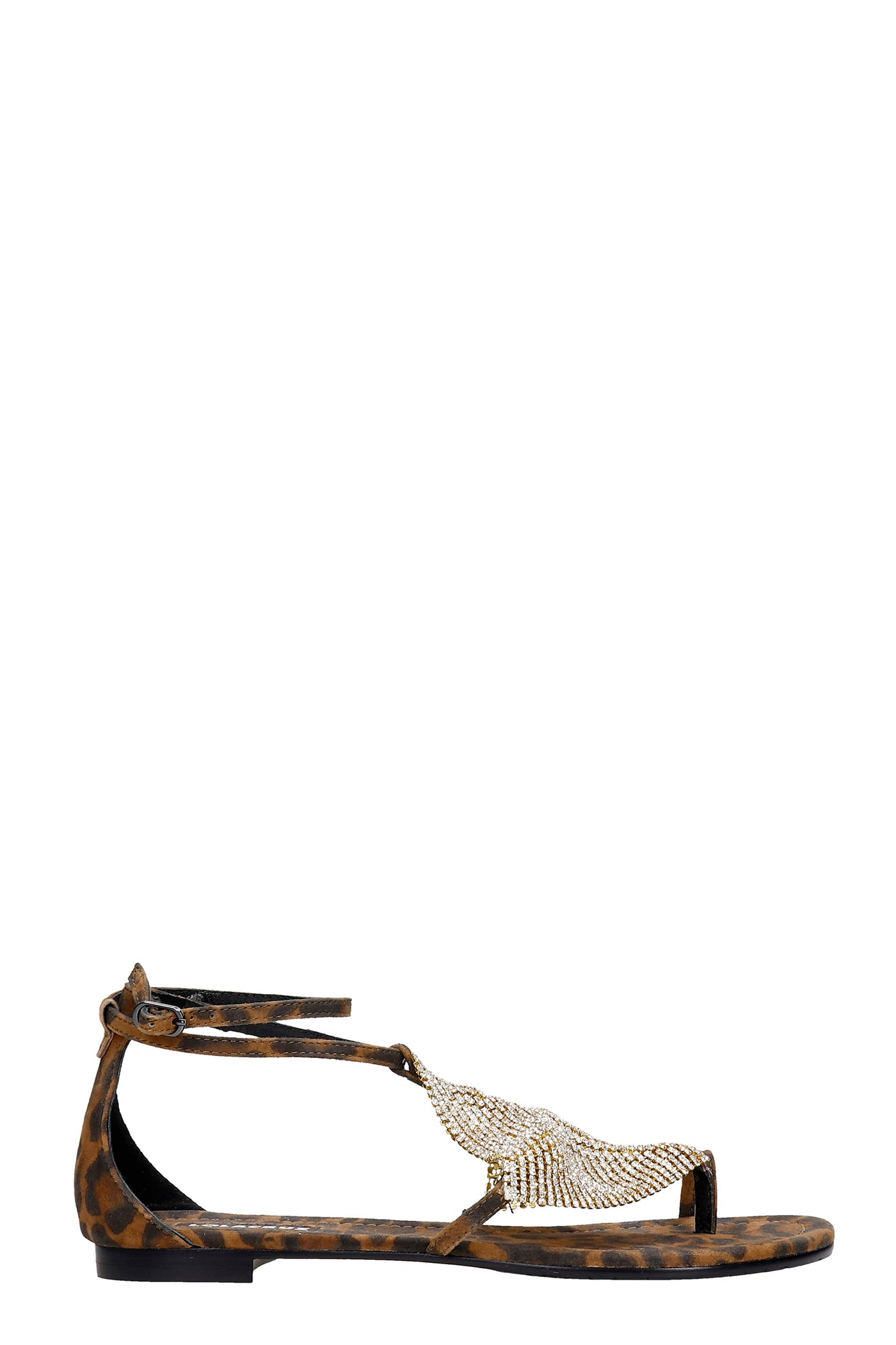 Flats In Leather Color Suede