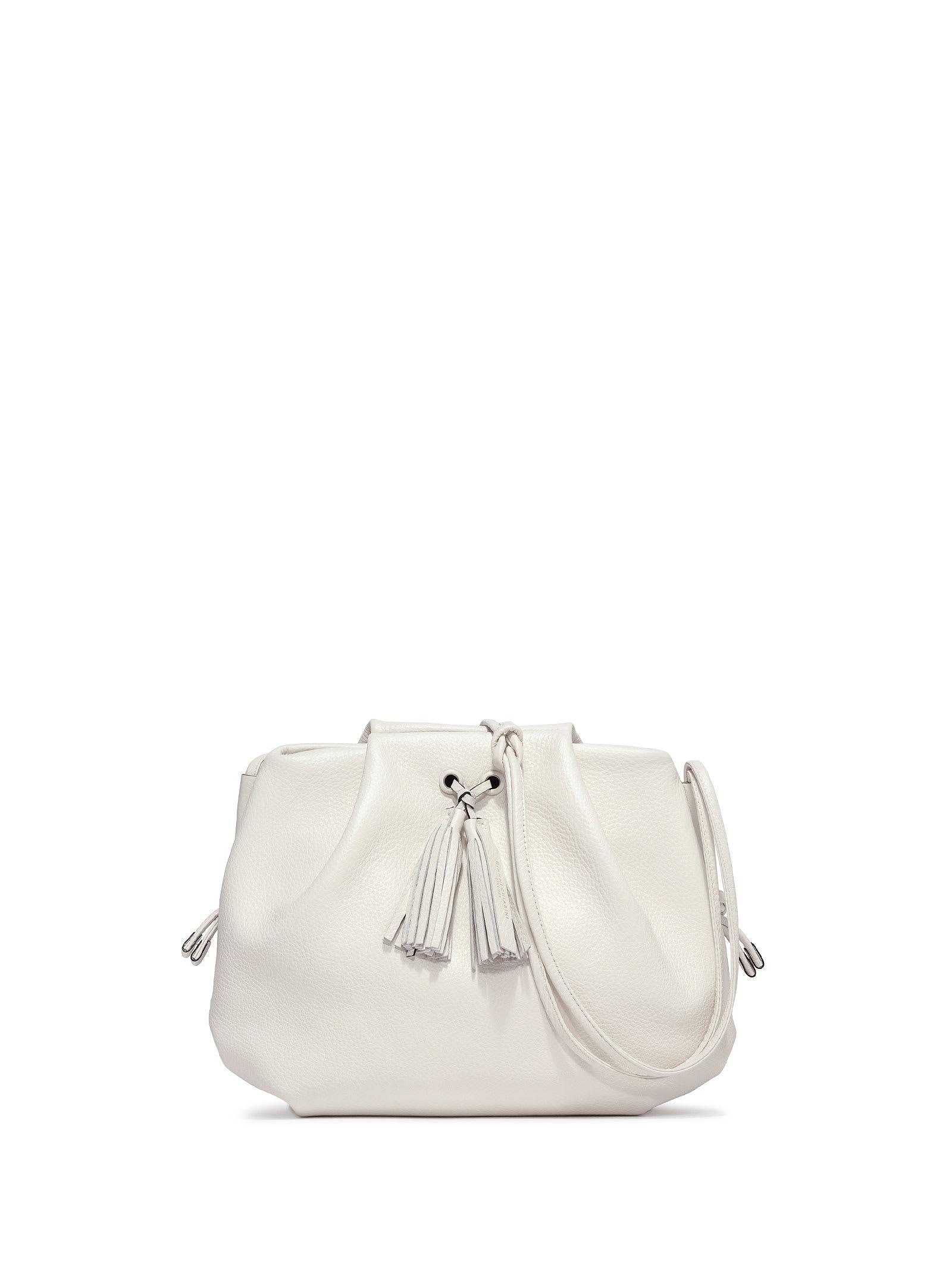Flora White Shoulder Bag