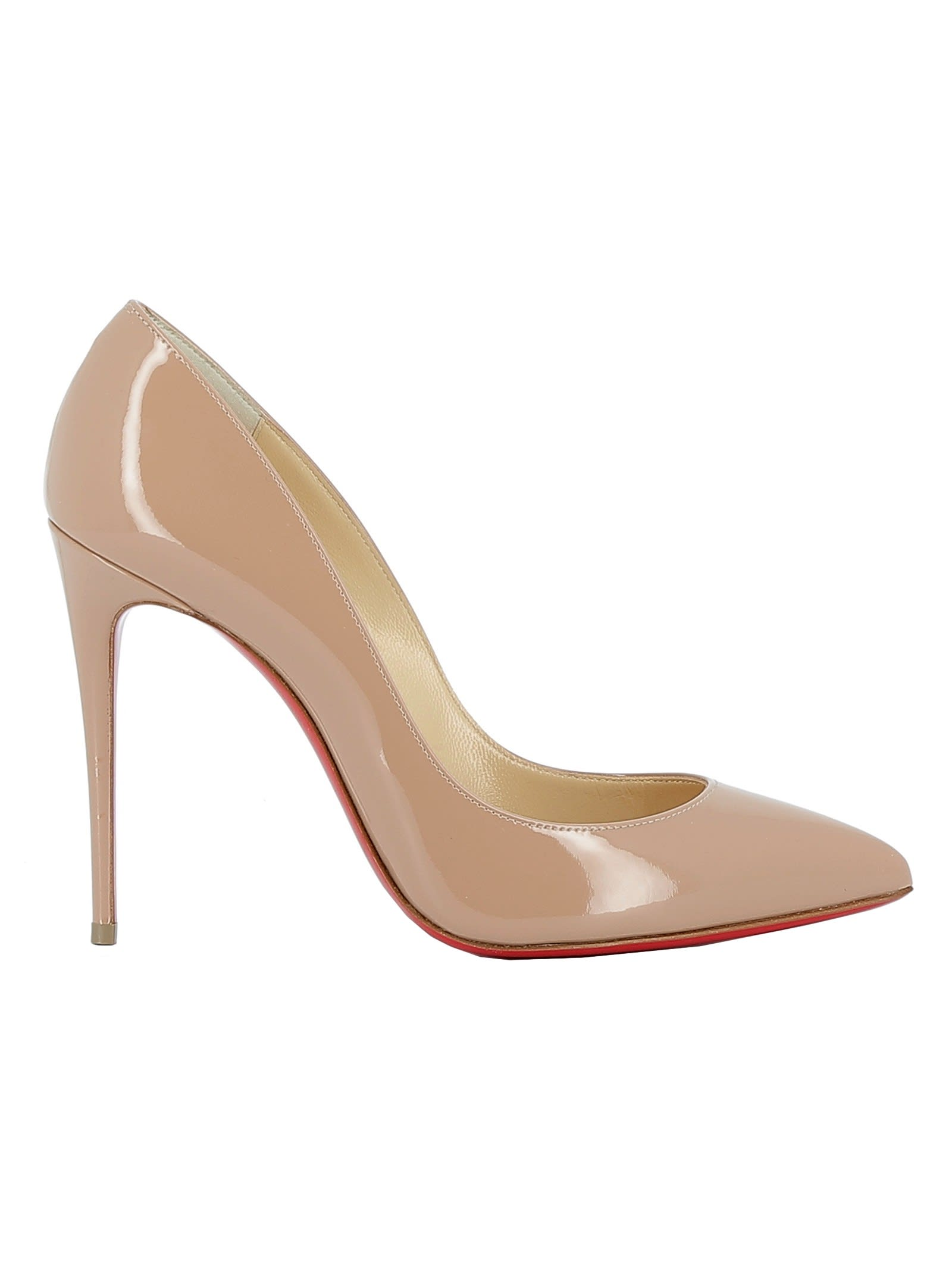 newest 9e846 615ce Best price on the market at italist | Christian Louboutin Christian  Louboutin Nude Patent Leather Pumps