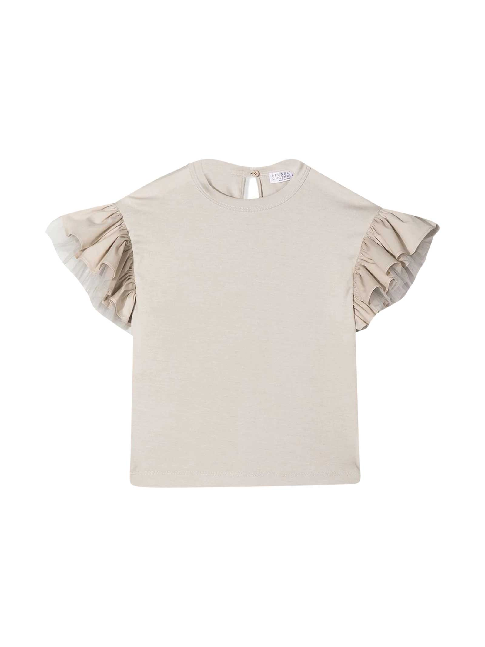 Brunello Cucinelli Blouses SLEEVELESS TEEN BLOUSE WITH RUCHES