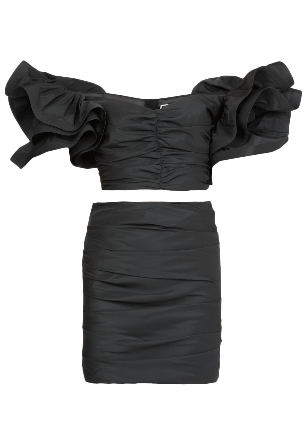 Elisabetta Franchi Draped Dress With Rouches