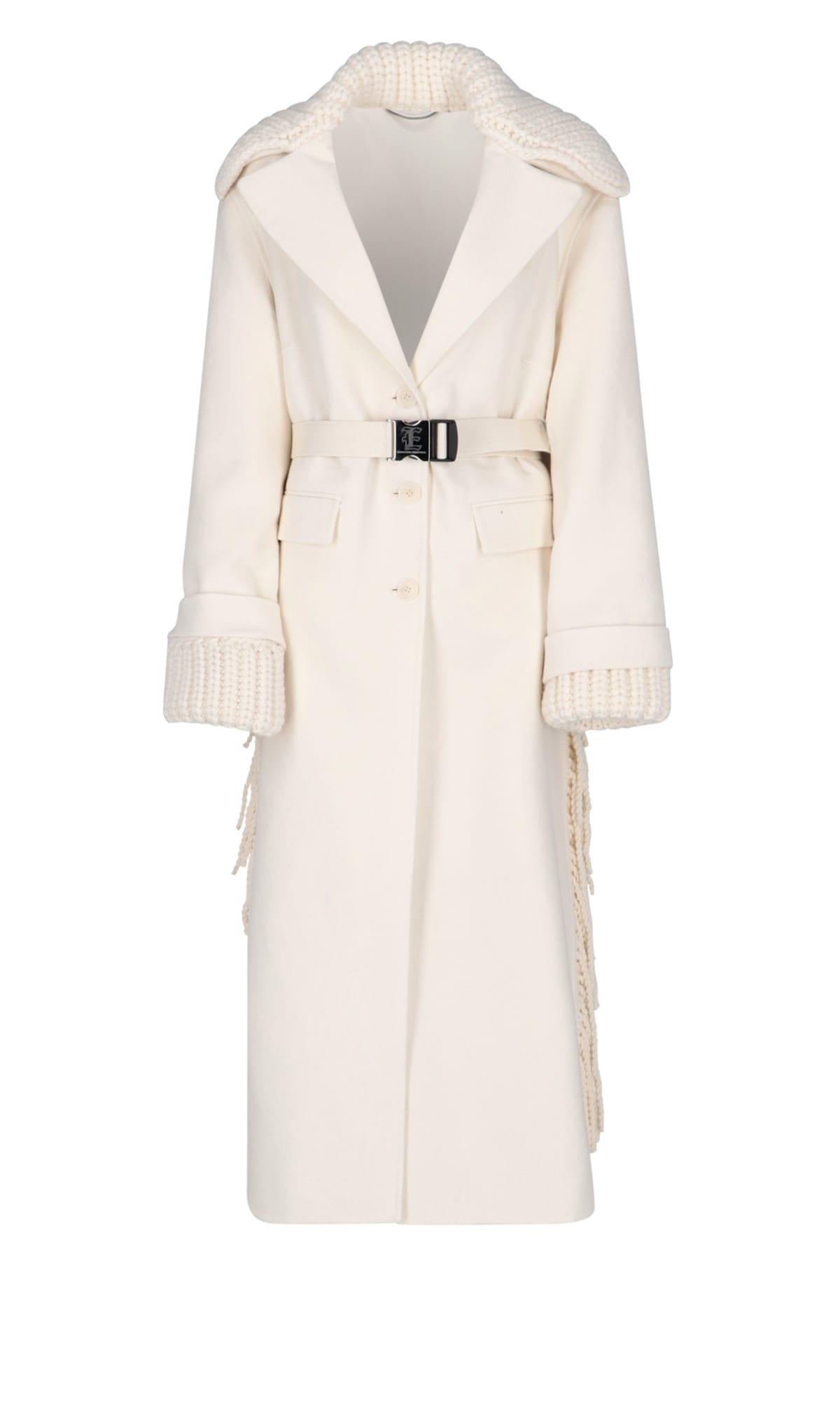 Ermanno Scervino Jacket In White