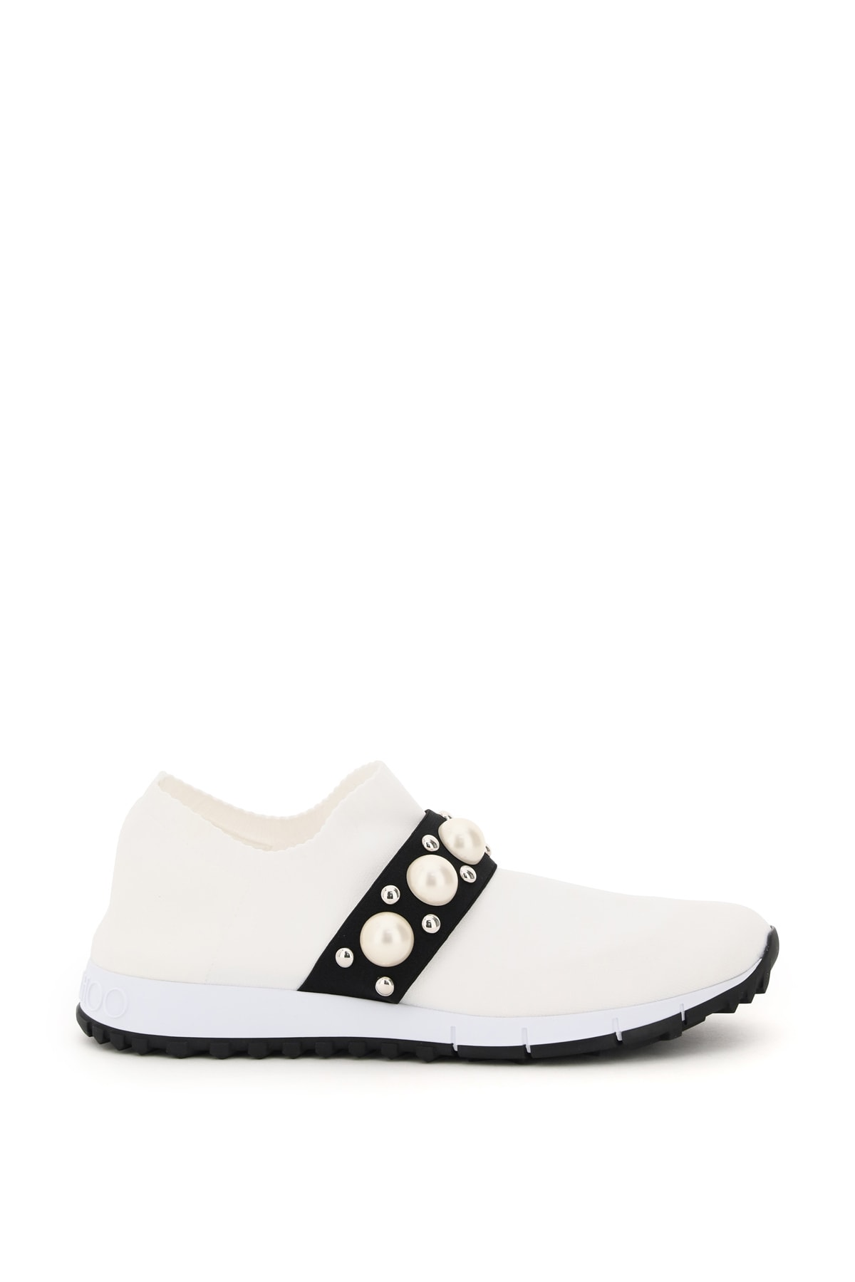 Buy Jimmy Choo Verona Sneakers Pearls And Studs online, shop Jimmy Choo shoes with free shipping
