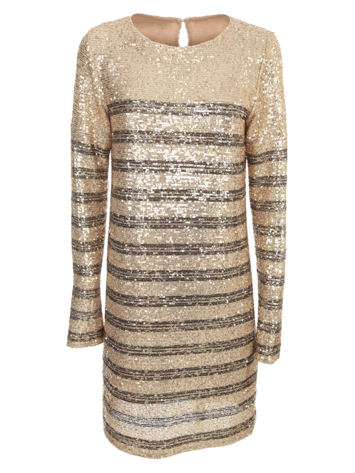 Buy In The Mood For Love Long Sleeved Striped Print Round Neck Dress online, shop In The Mood For Love with free shipping