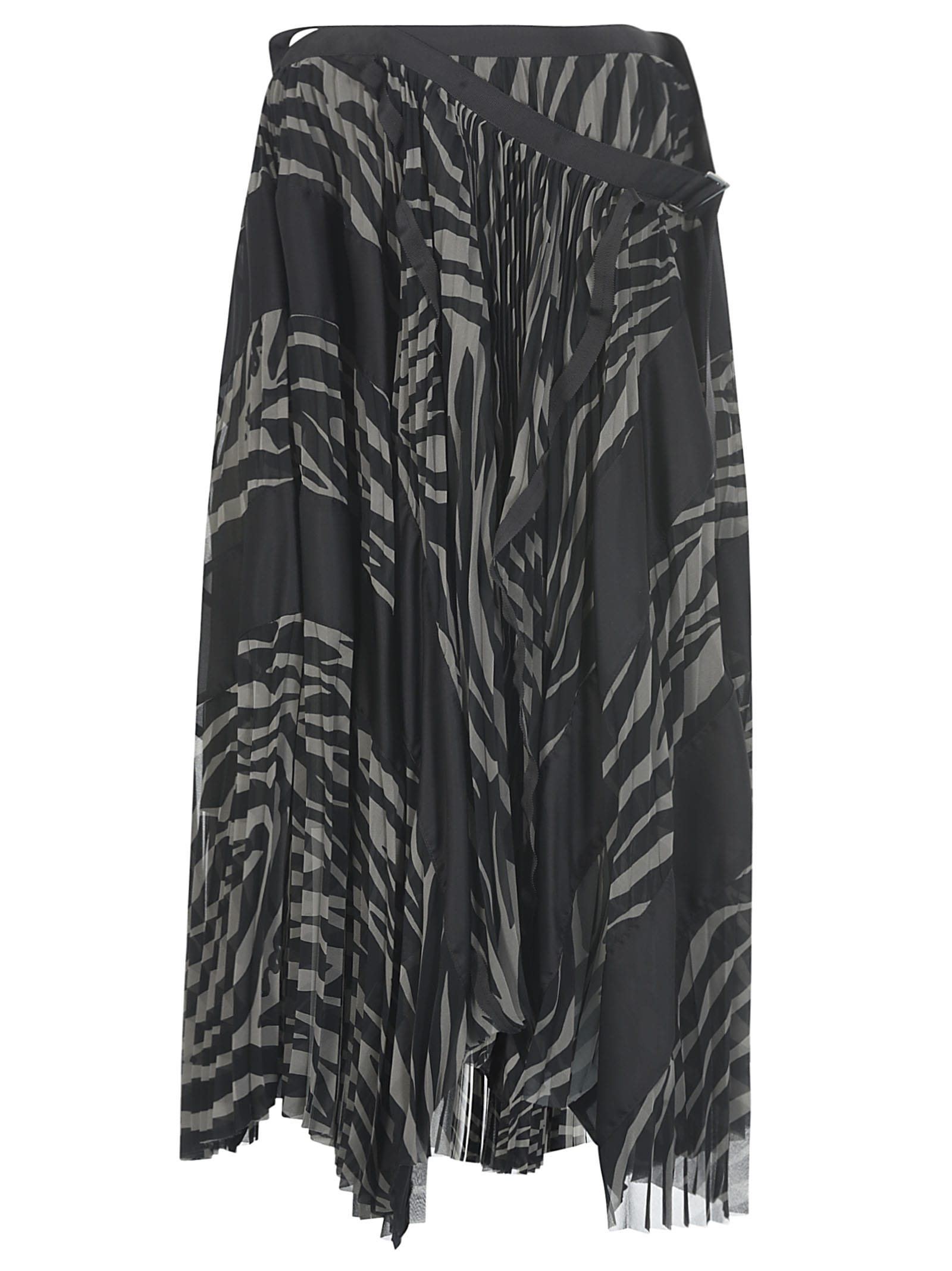 Sacai Pleated Printed Skirt