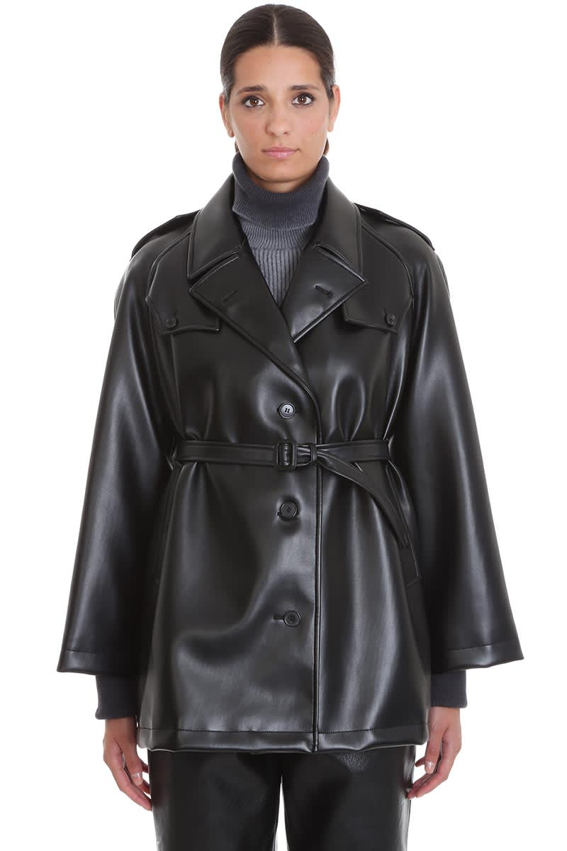 Maison Margiela Leather Jacket In Black Leather