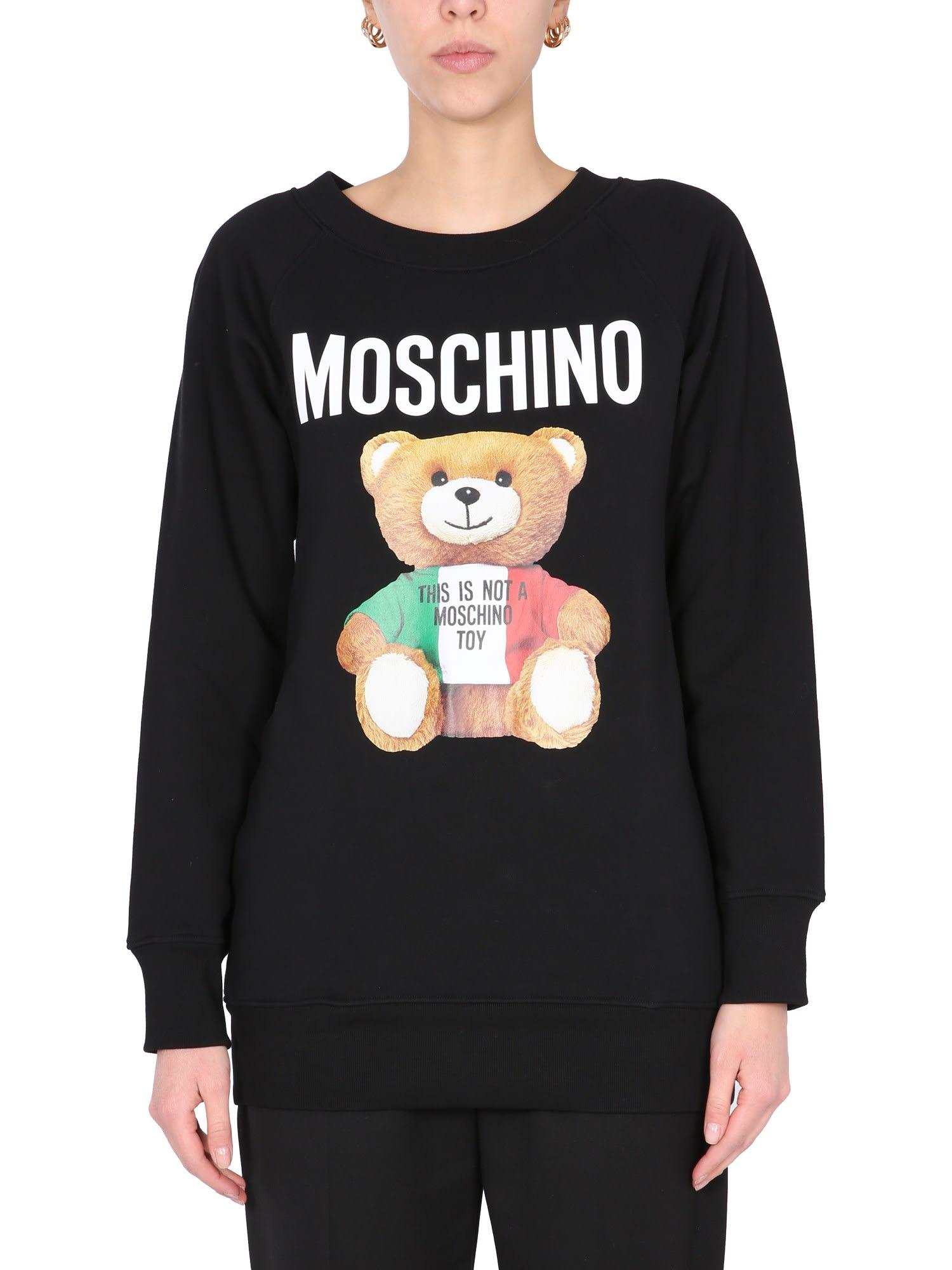 MOSCHINO SWEATSHIRT WITH ITALIAN TEDDY PRINT