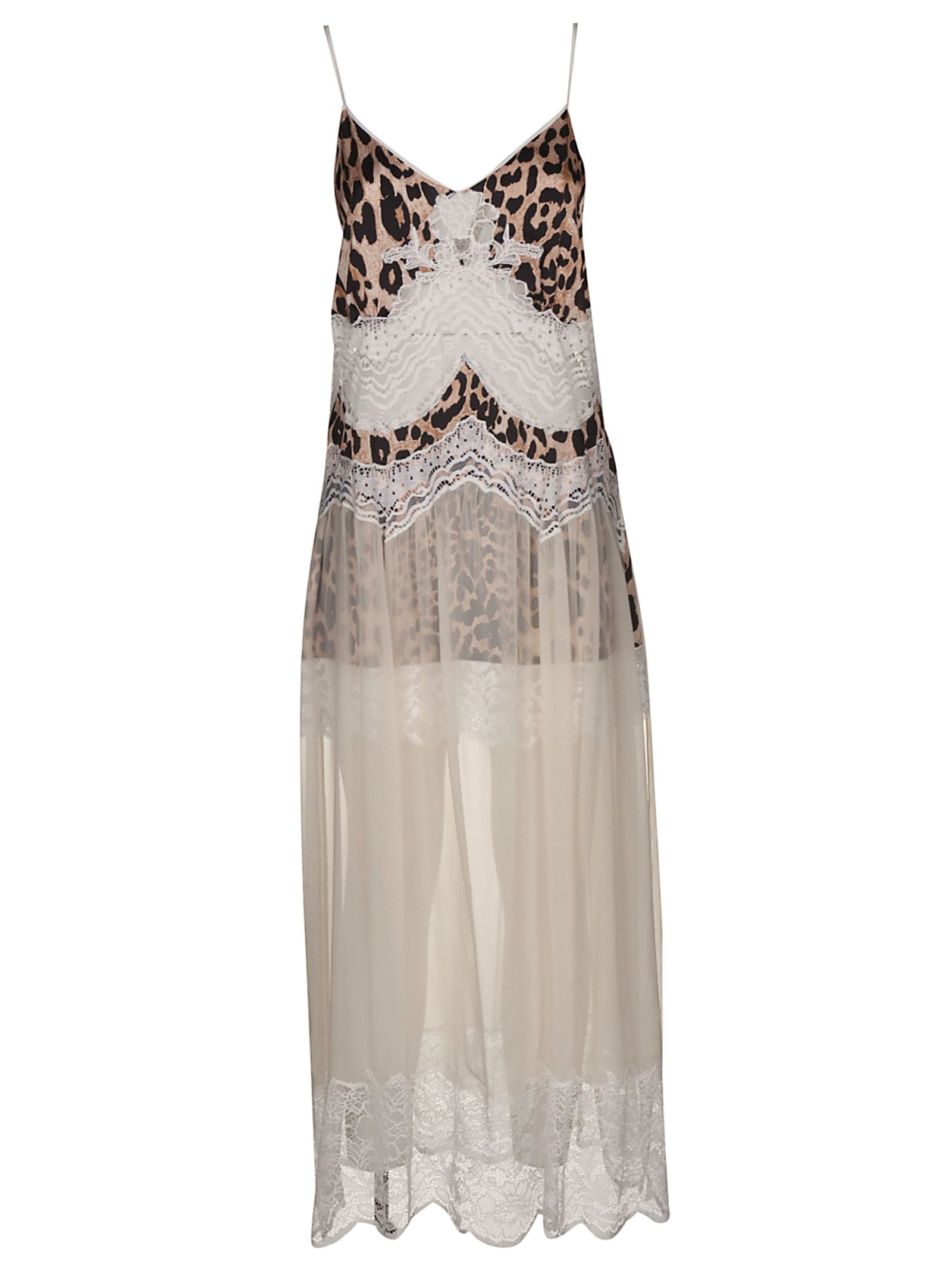 Paco Rabanne Leopard Detail Long Sleeveless Dress