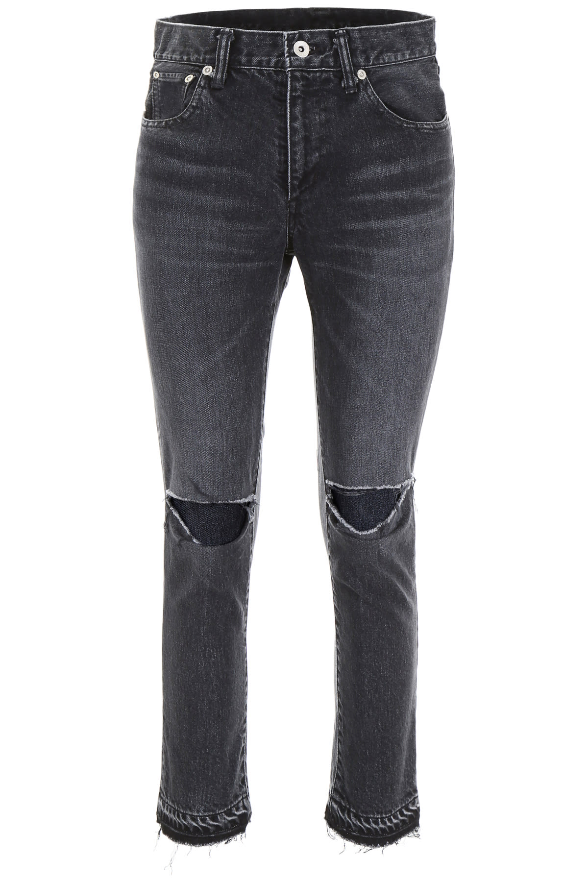 Sacai Jeans With Torn Knees