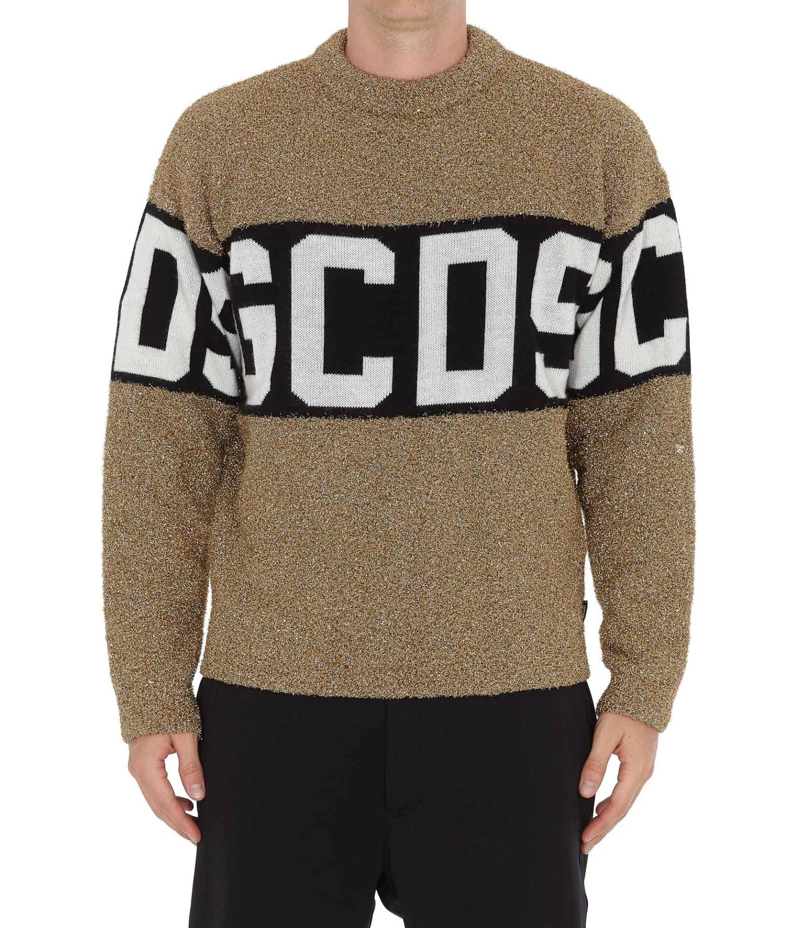 Gcds Sweaters LOGO LUREX SWEATER