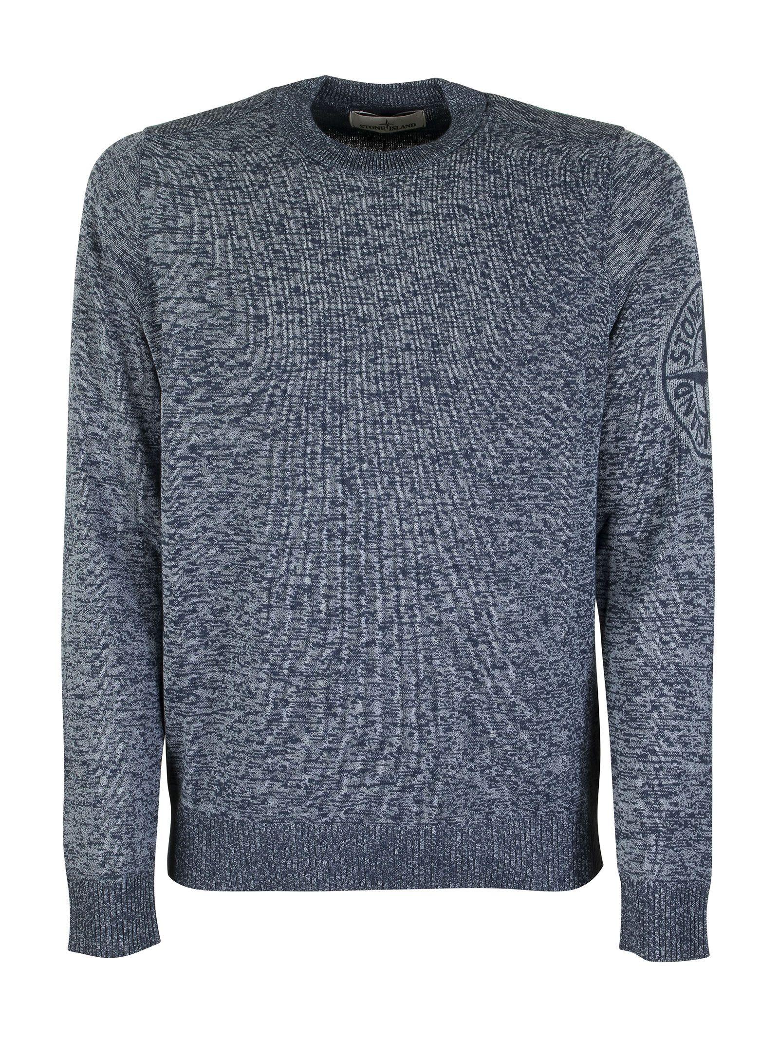 Stone Island 564d7 Crew-neck Sweater In Cotton