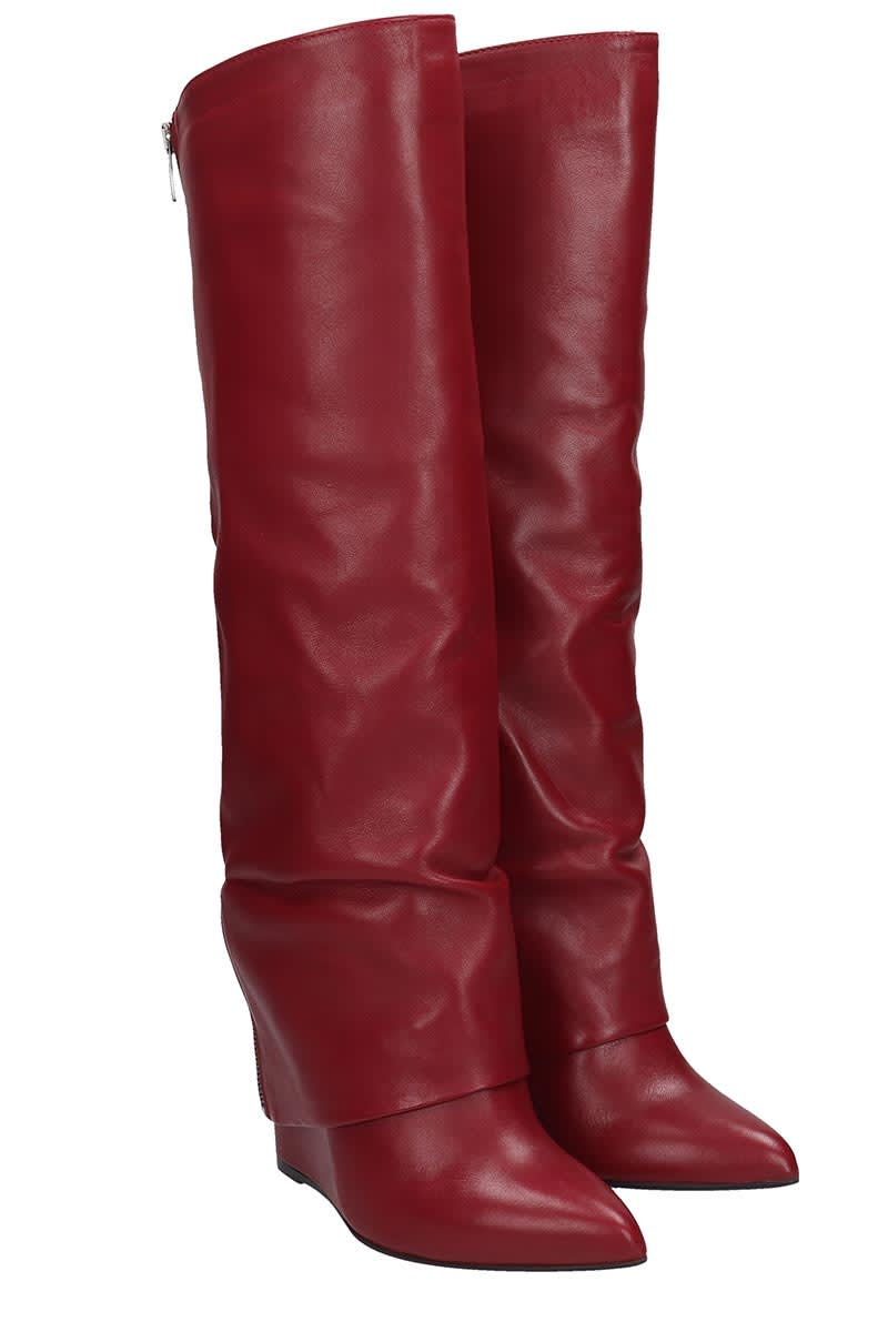 4bd232e3c4c77 The Seller Boots In Bordeaux Leather