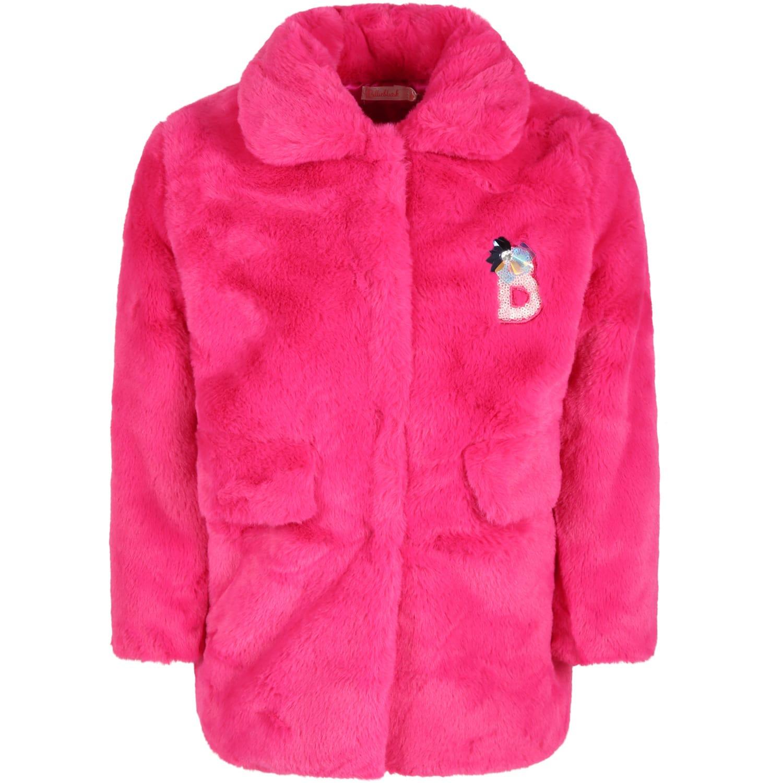 Fuchsia Coat For Girl
