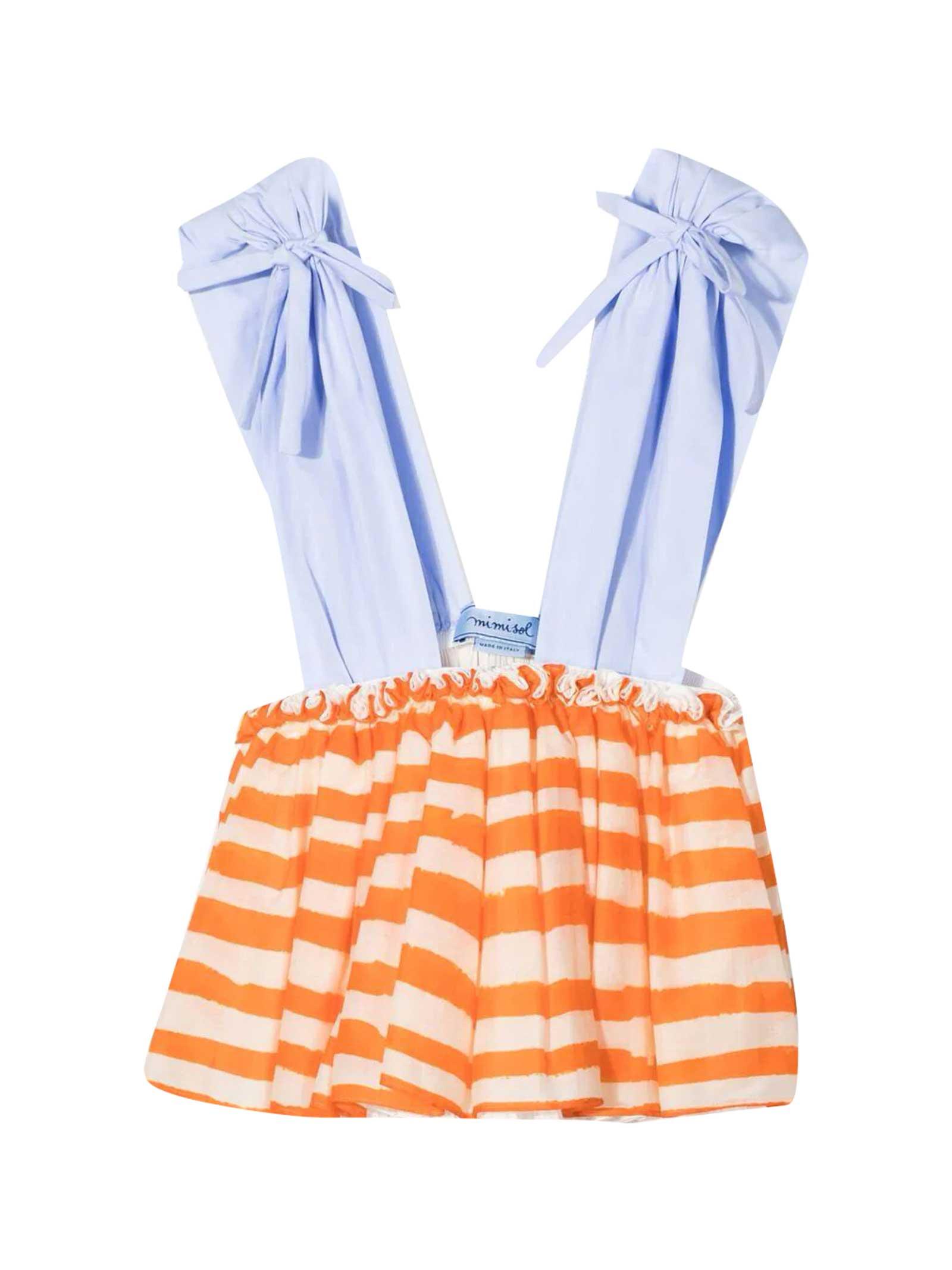 Multicolor Striped Dress Mi Mi Sol Kids