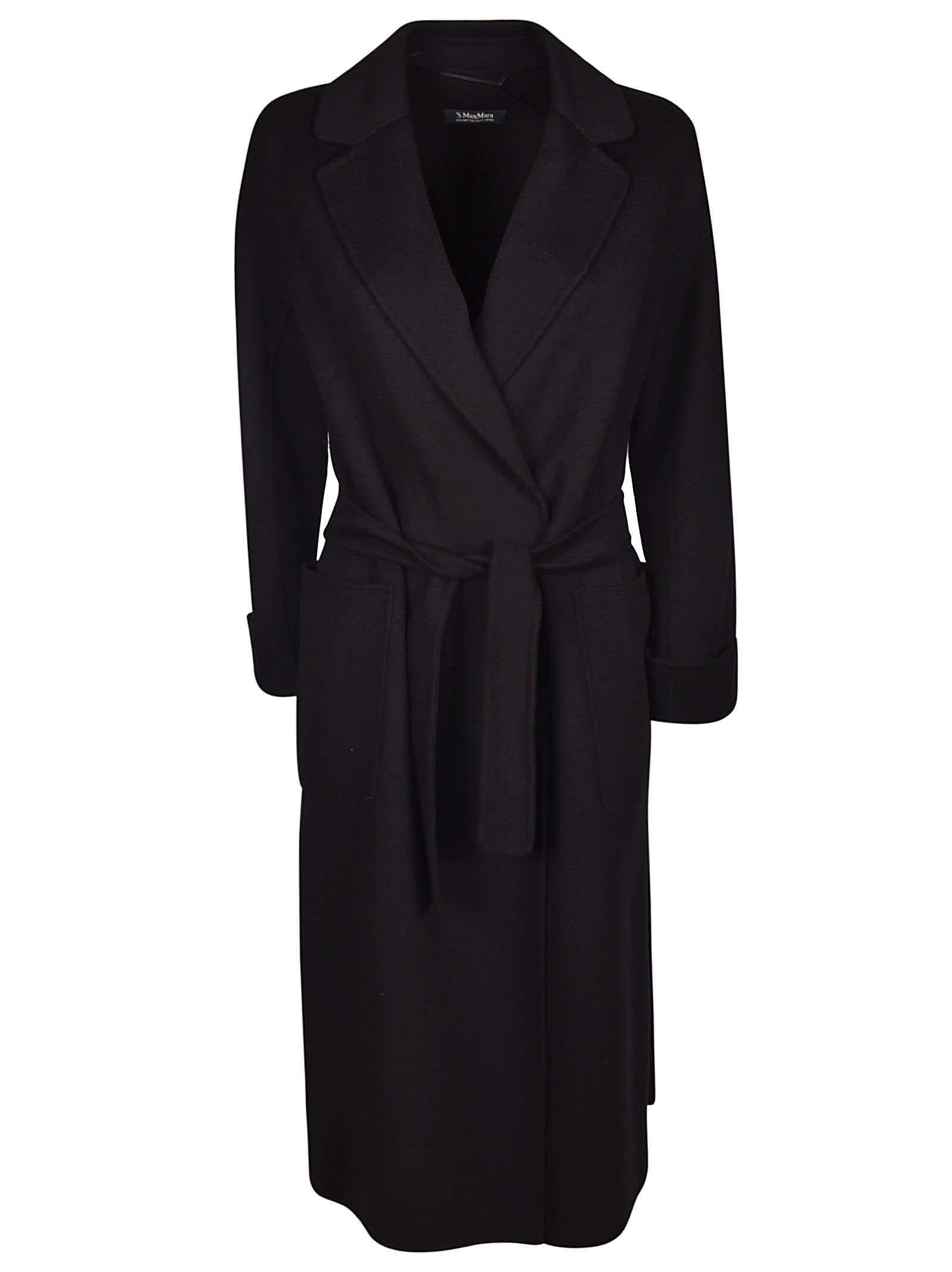 S Max Mara Here is The Cube Long Length Belted Coat