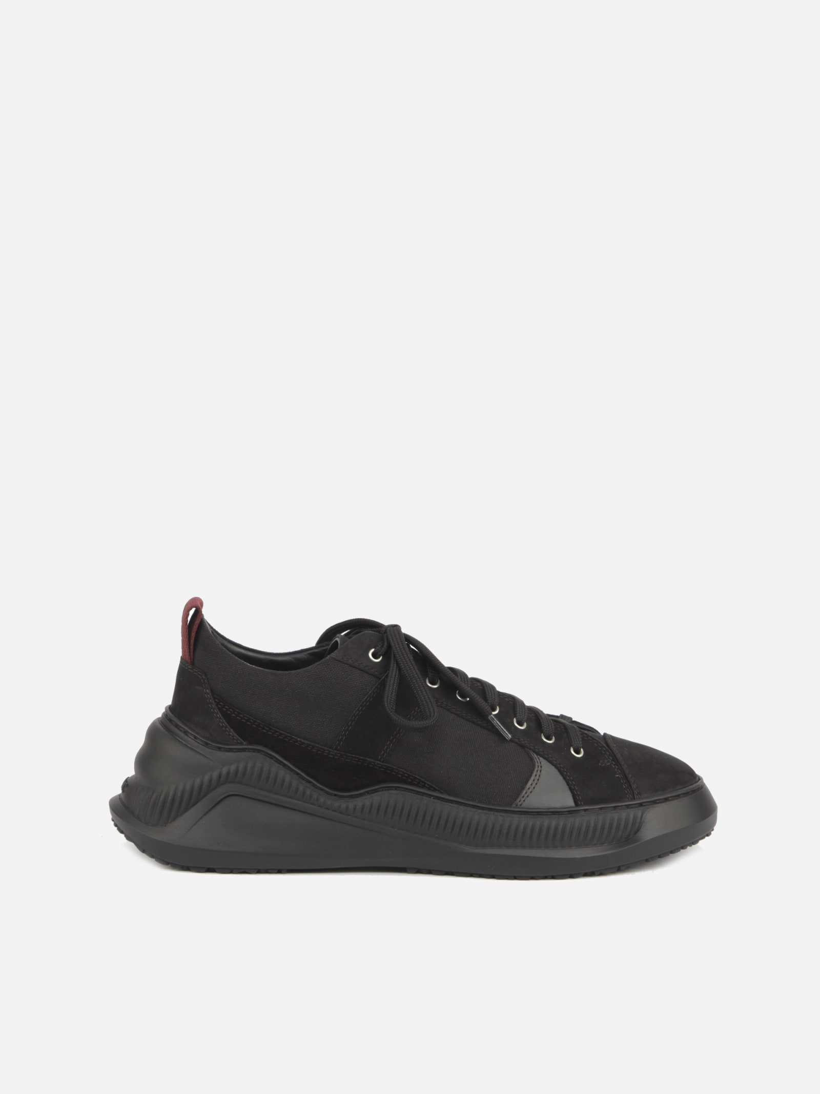 Oamc Sneakers FREE SOLO LOW SNEAKERS IN CANVAS WITH SUEDE INSERTS
