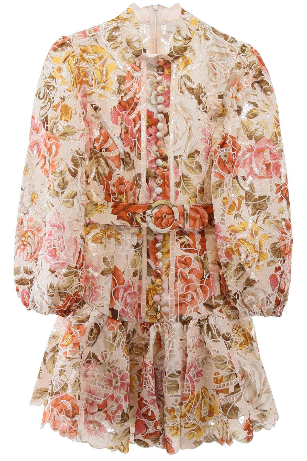 Buy Zimmermann Embroidered Mini Dress online, shop Zimmermann with free shipping