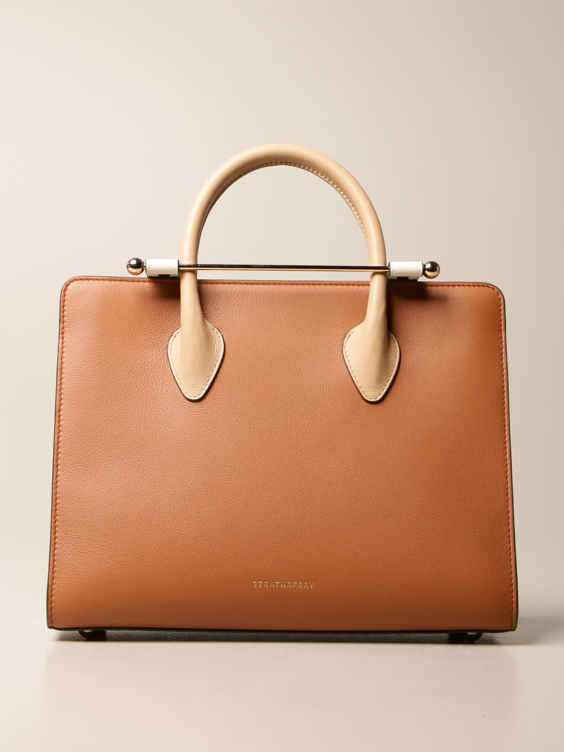 Strathberry Tote Bags Strathberry Midi Tote Bag In Tricolor Leather