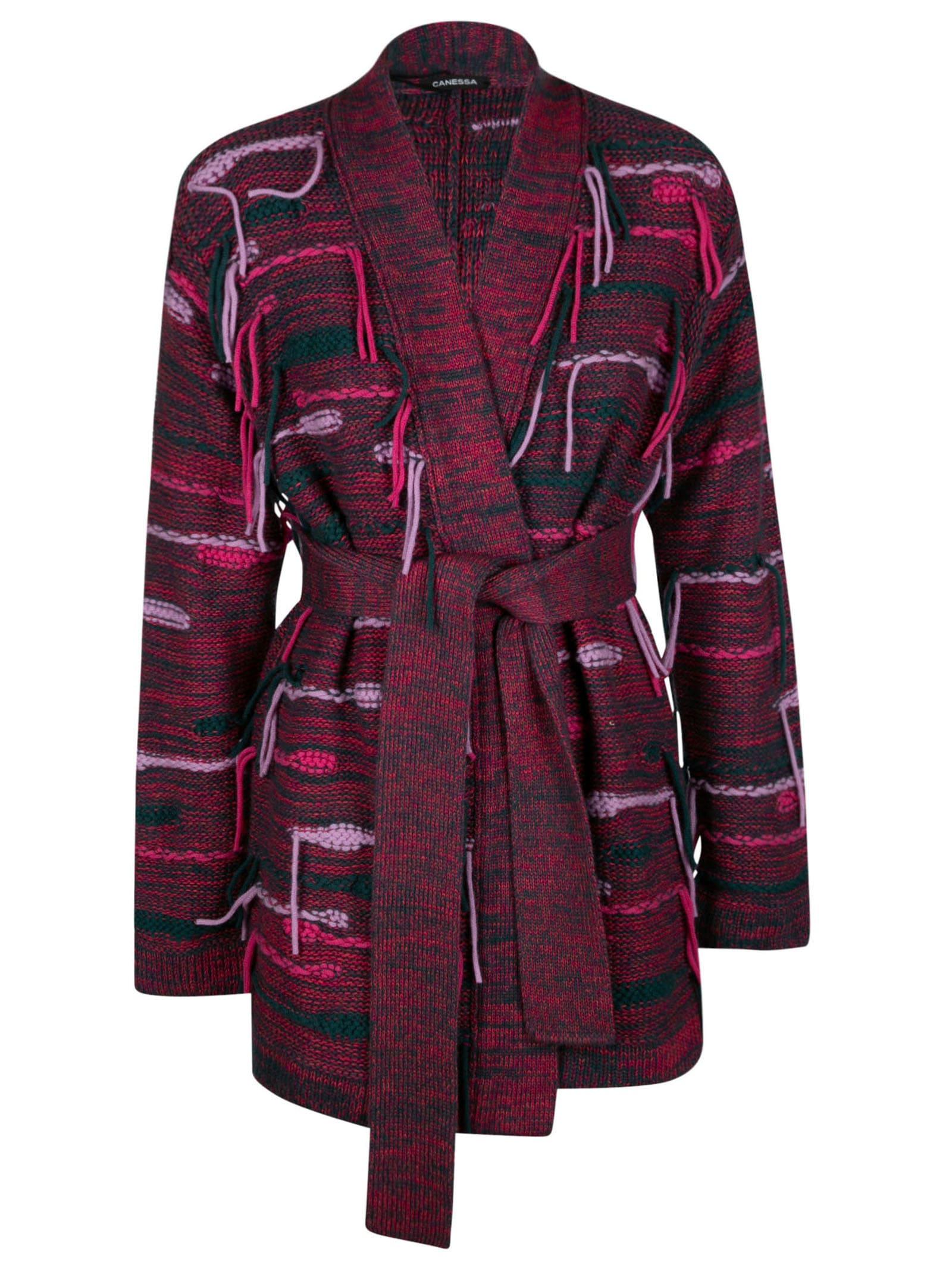 Tassel Detail Knit Cardi-coat