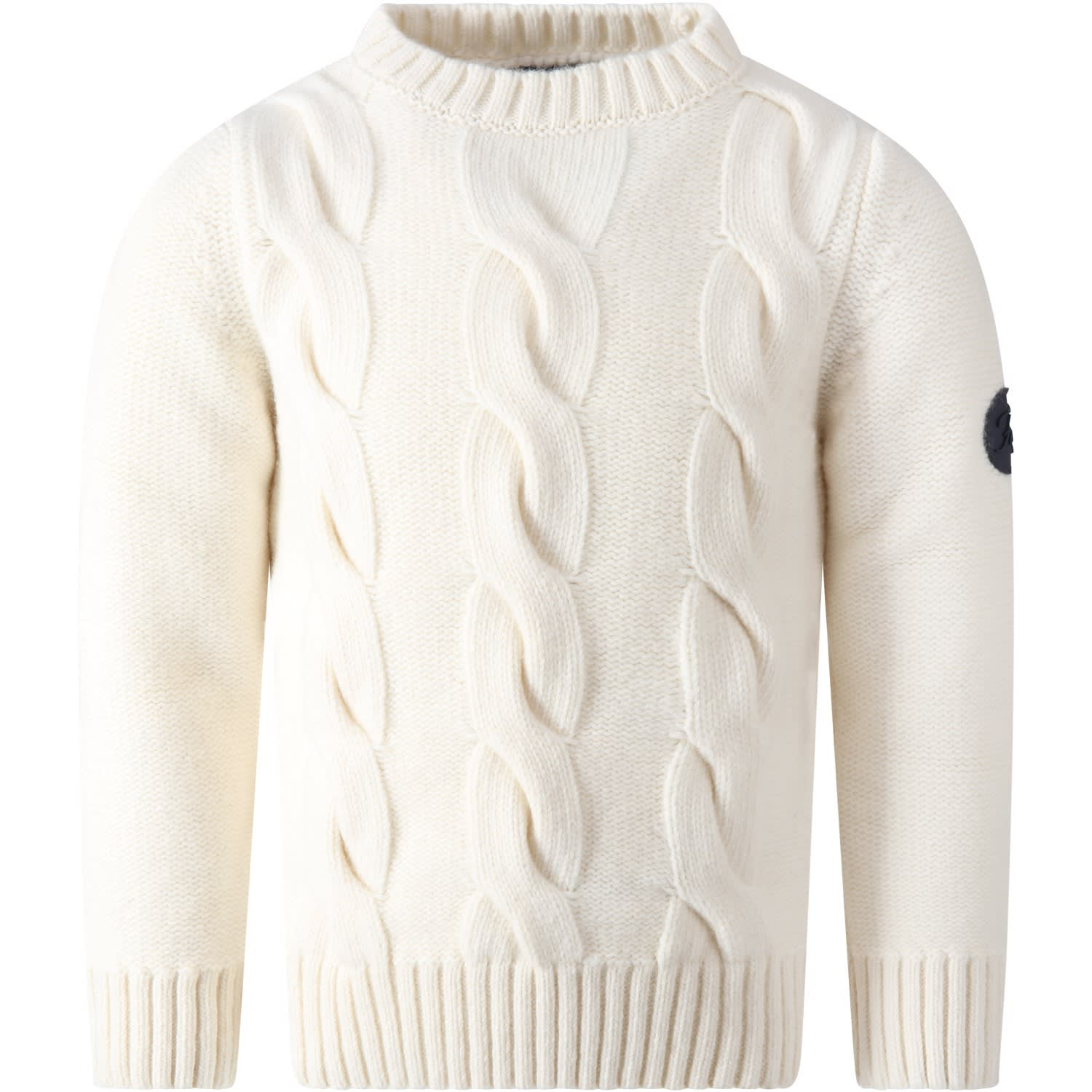 Fay IVORY SWEATER FOR KIDS