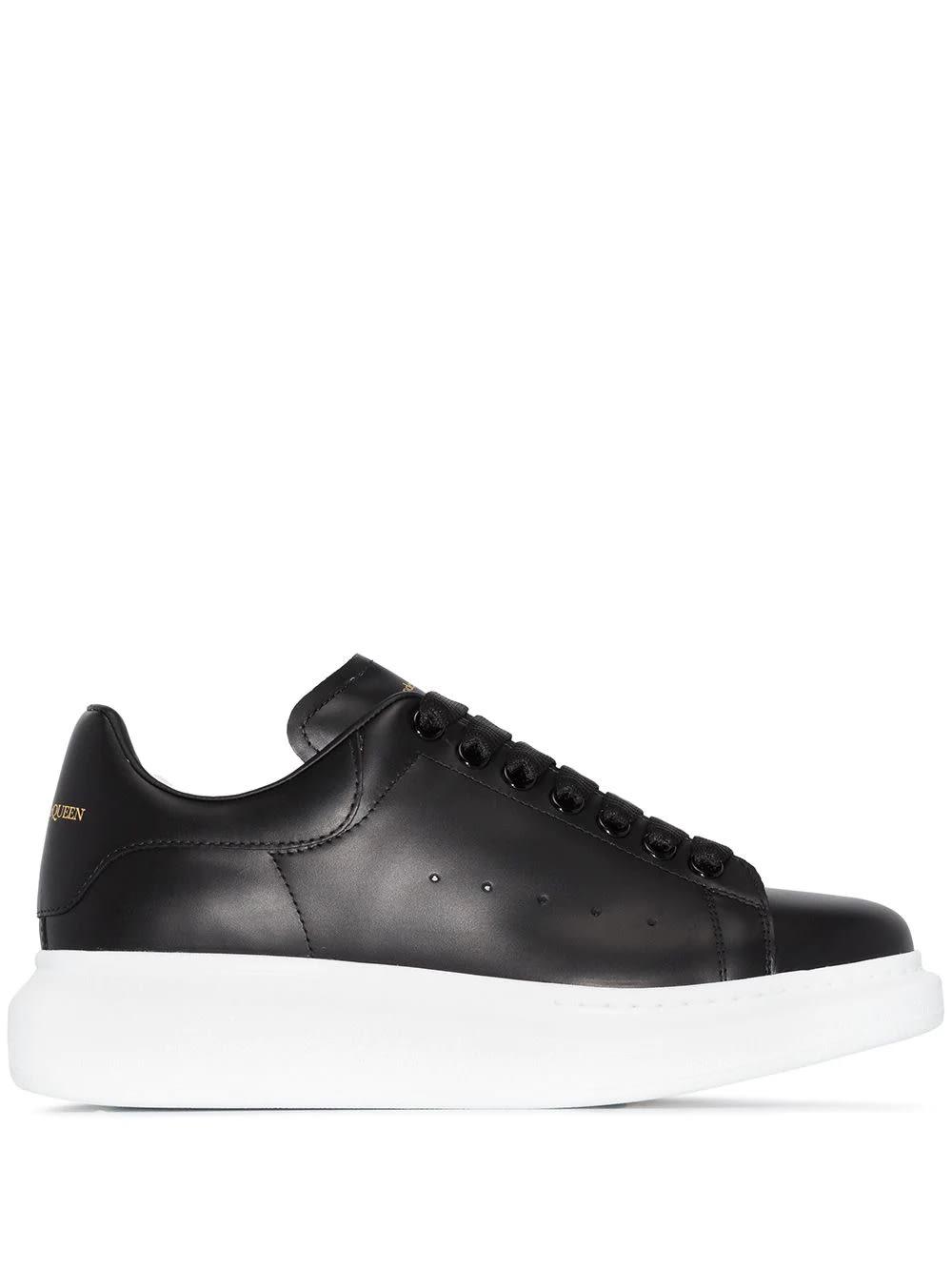 Alexander McQueen Woman Black Oversize Sneakers