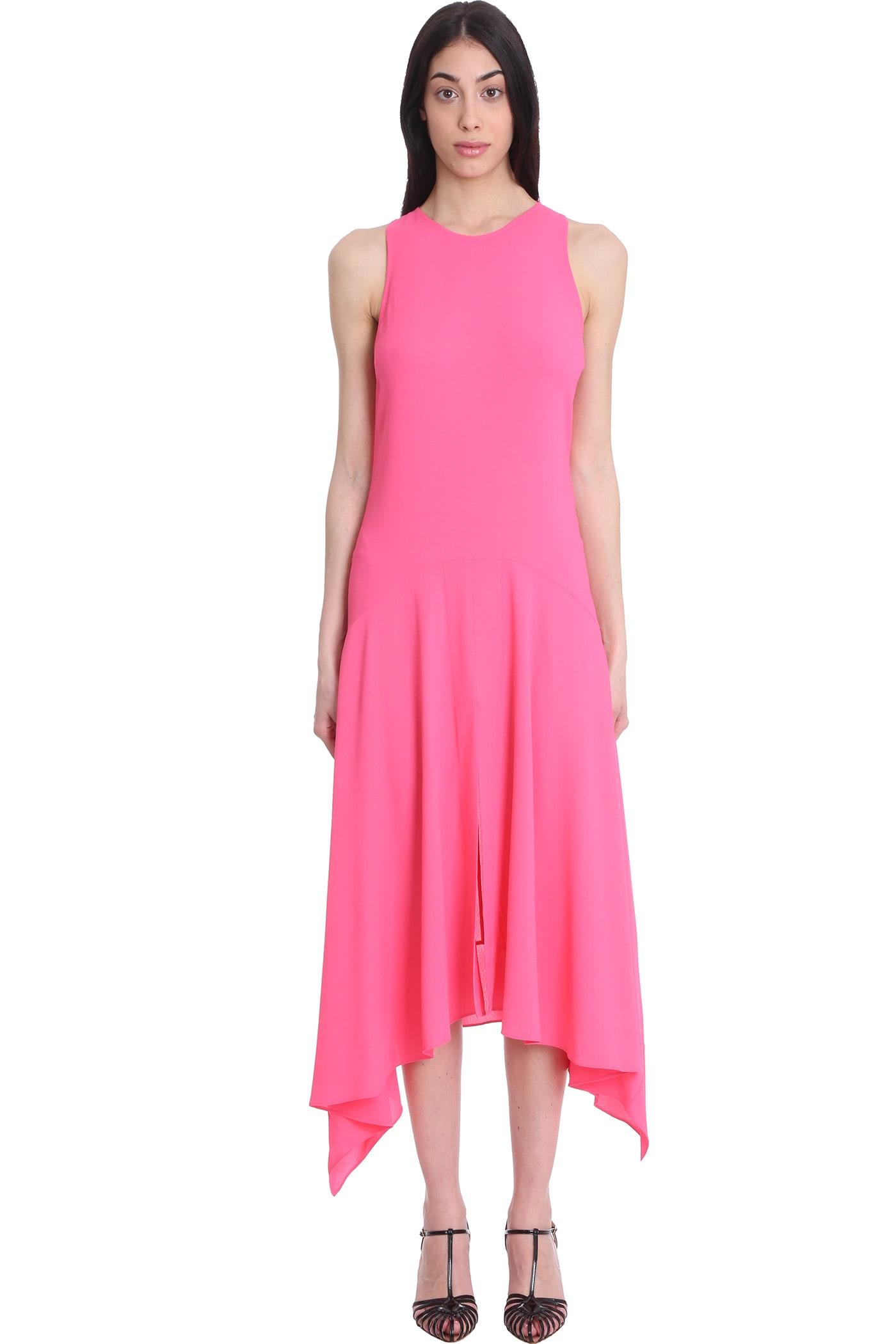 Stella McCartney Anabelle Dress In Rose-pink Viscose