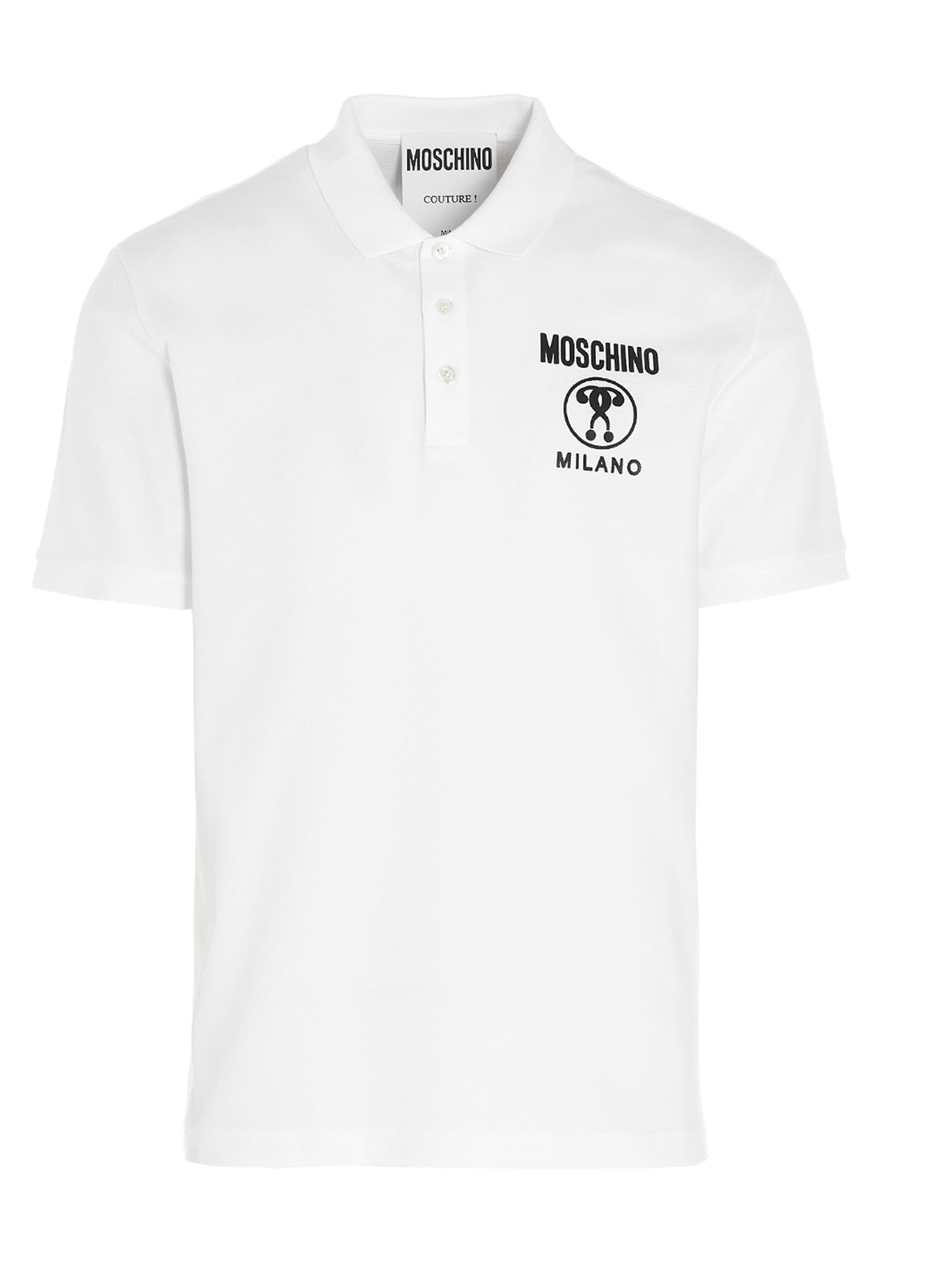 Moschino Cottons DOUBLE QUESTION MARK POLO