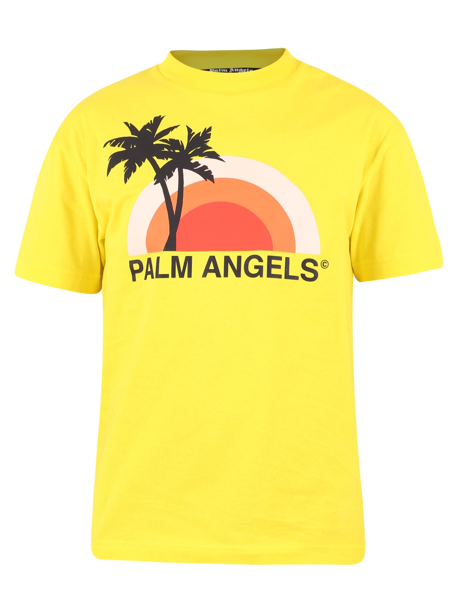 Palm Angels Tops PRINTED T-SHIRT
