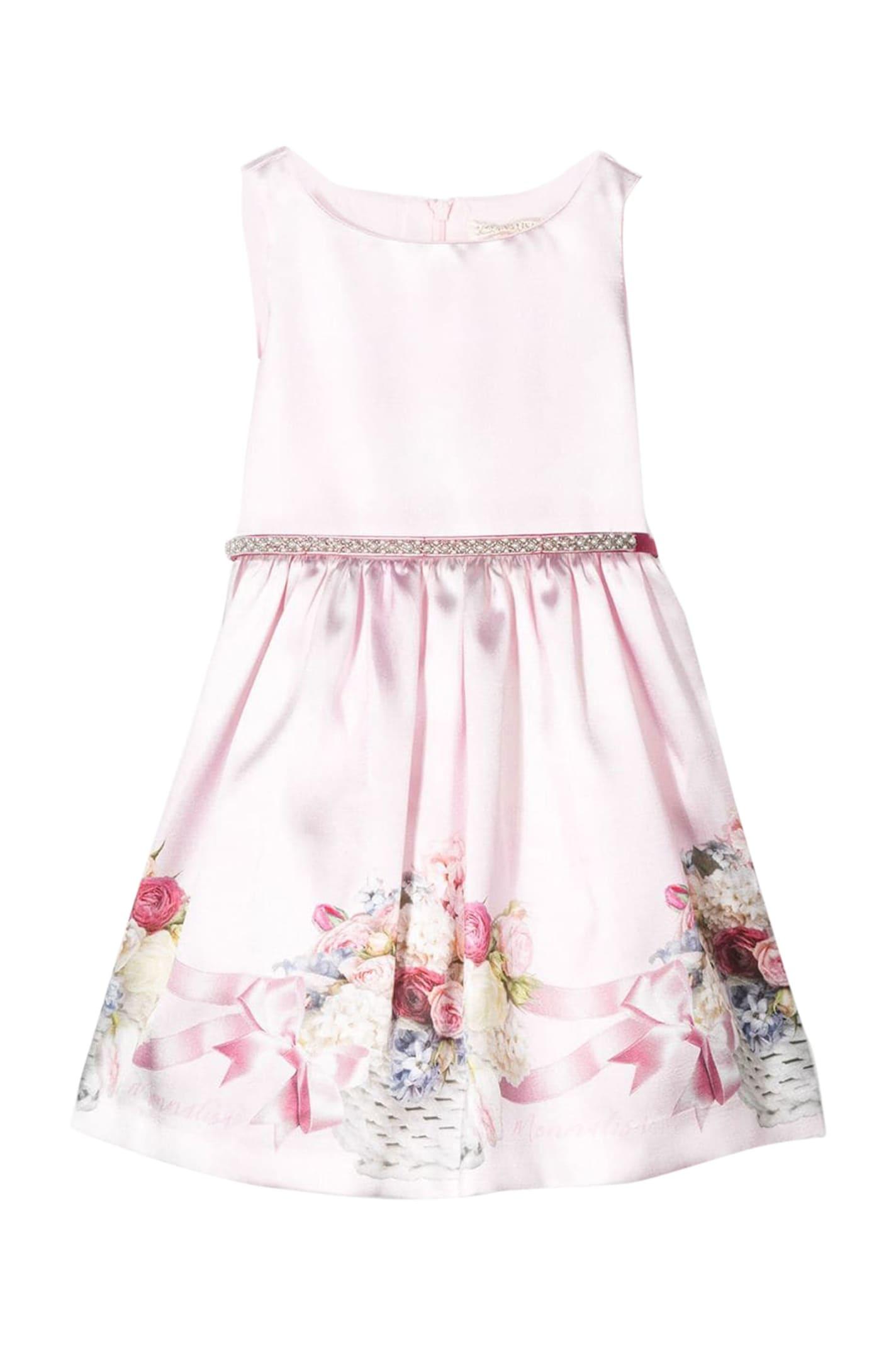 Buy Monnalisa Floral Dress online, shop Monnalisa with free shipping