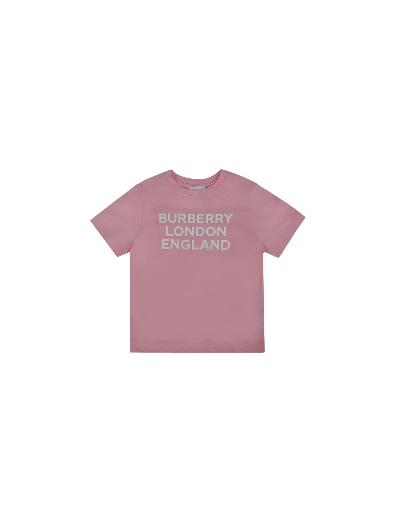 Burberry Kids' T-shirt For Girl In Candy Pink