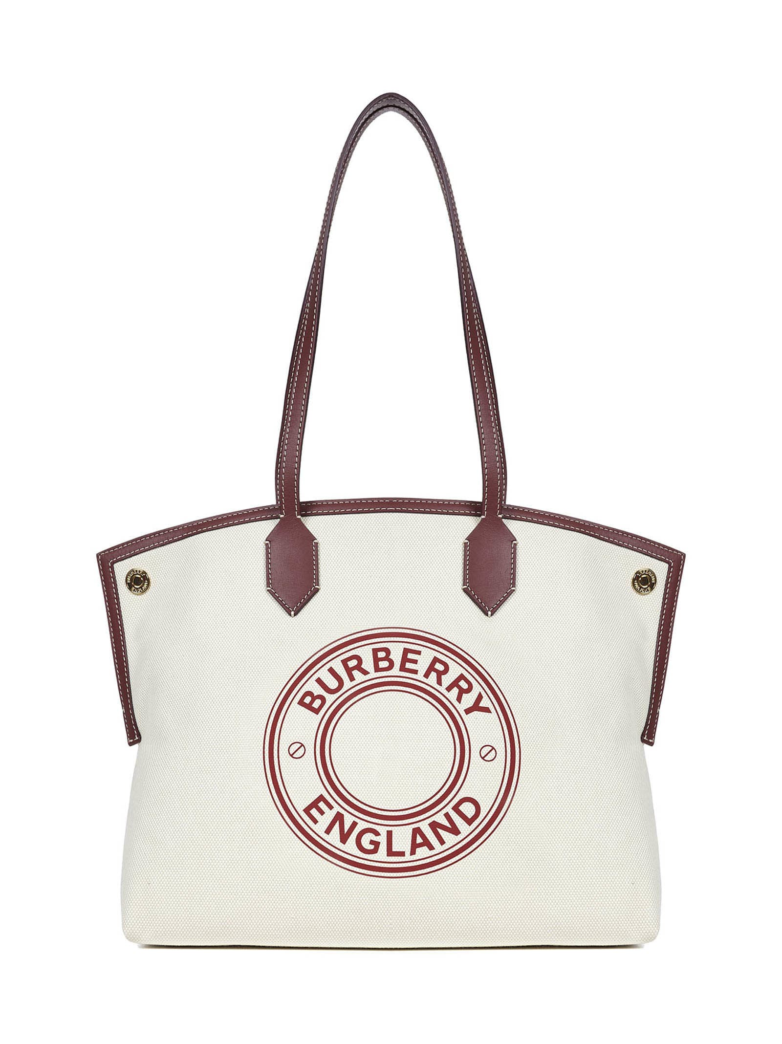 Burberry Society Medium Shoulder Bag In White