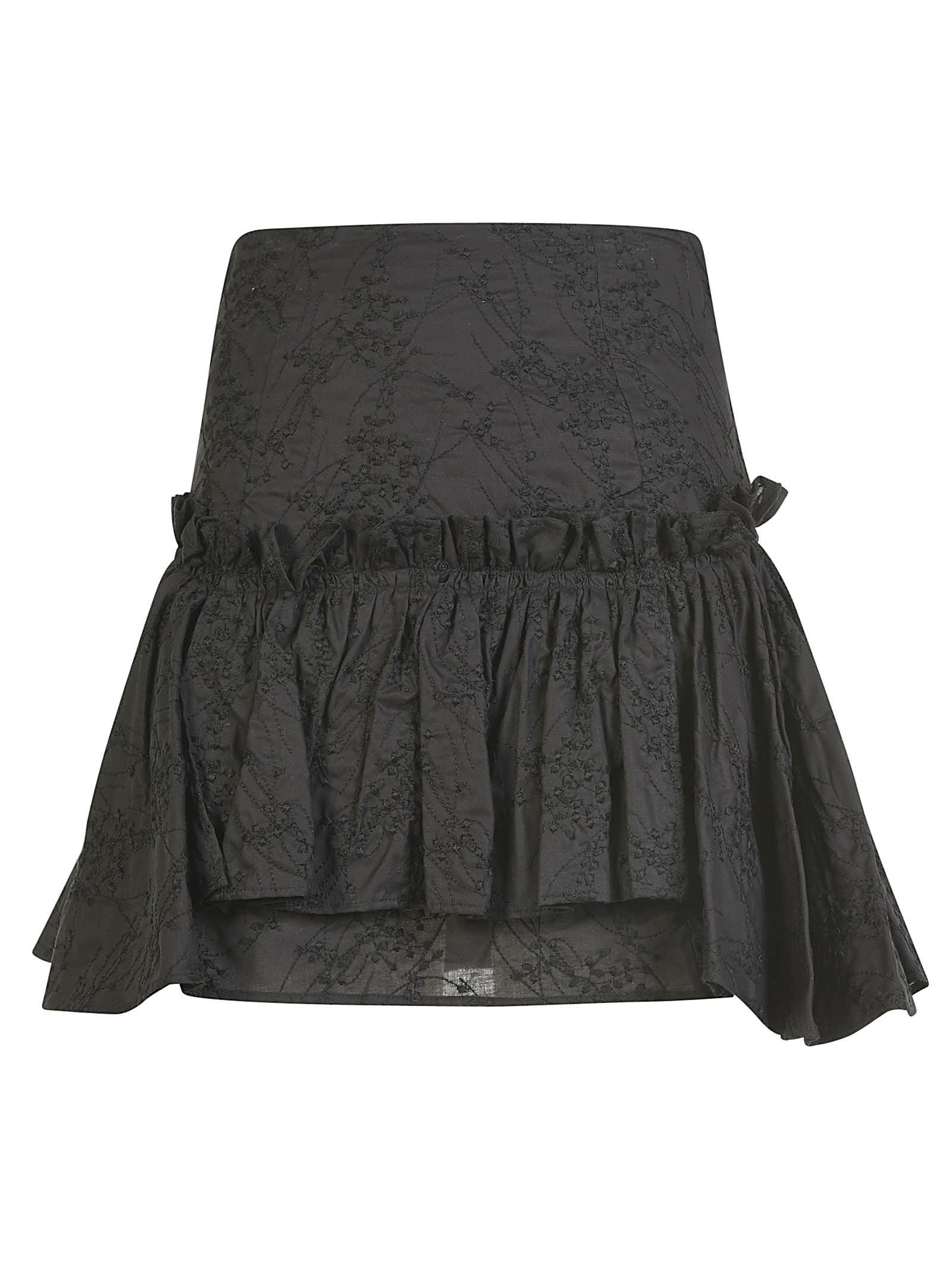 Wandering Snagallo Short Skirt In Black