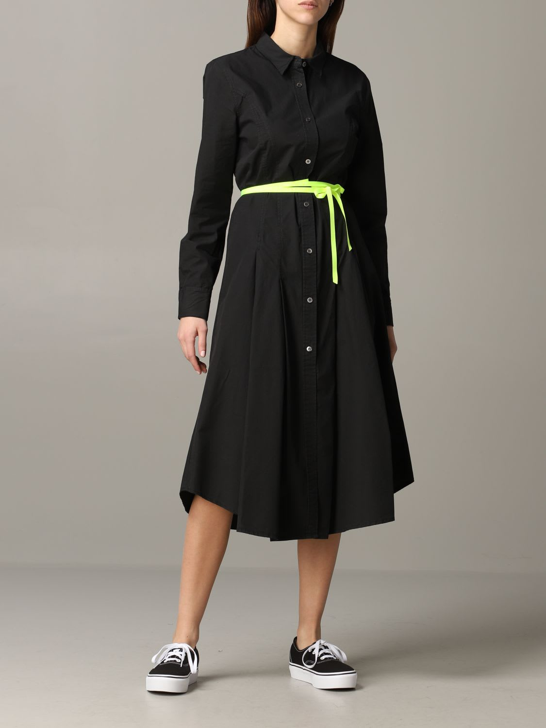 Buy Department 5 Dress Department 5 Poplin Dress With Fluorescent Belt online, shop Department 5 with free shipping