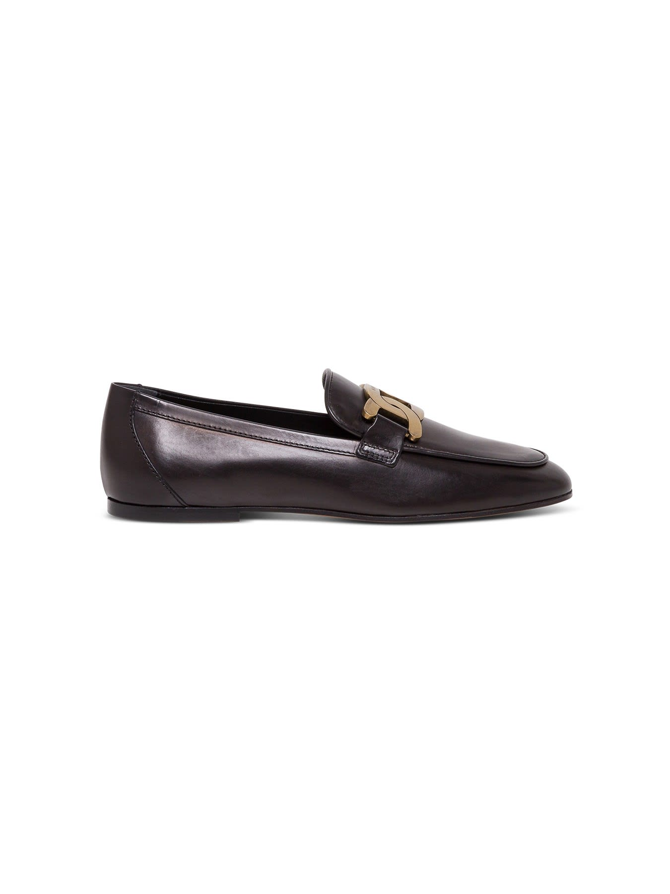 Tods Metal Plaque Loafers