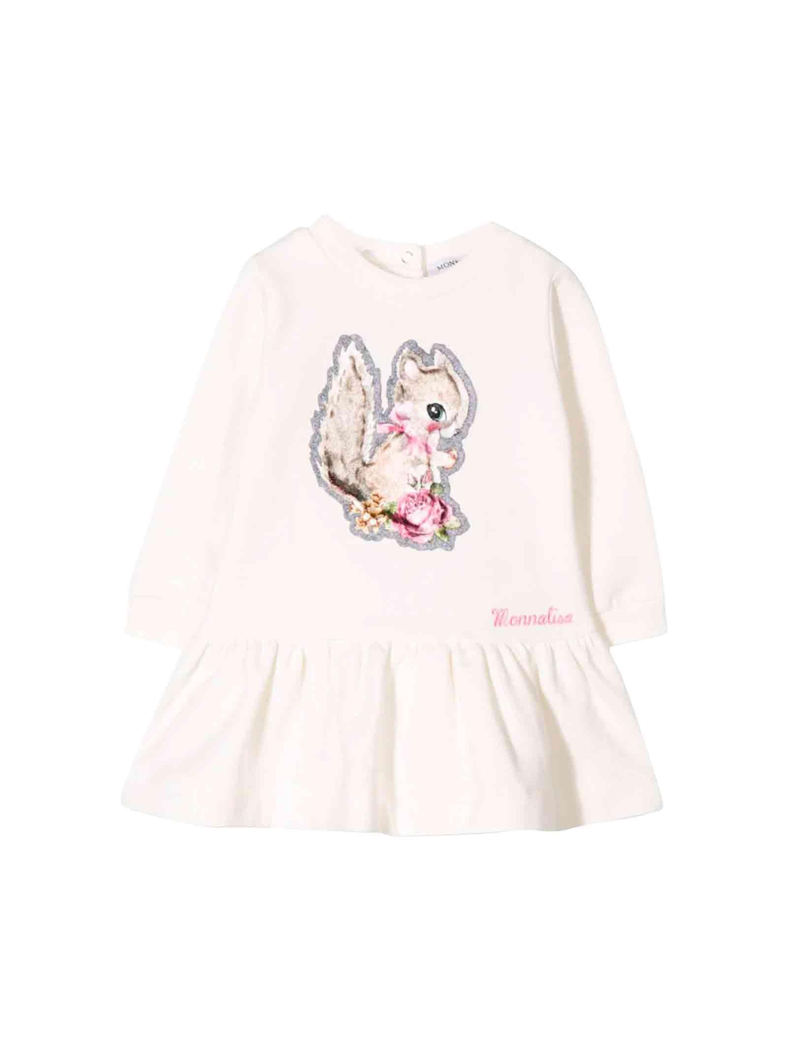 Monnalisa Newborn Cream Dress