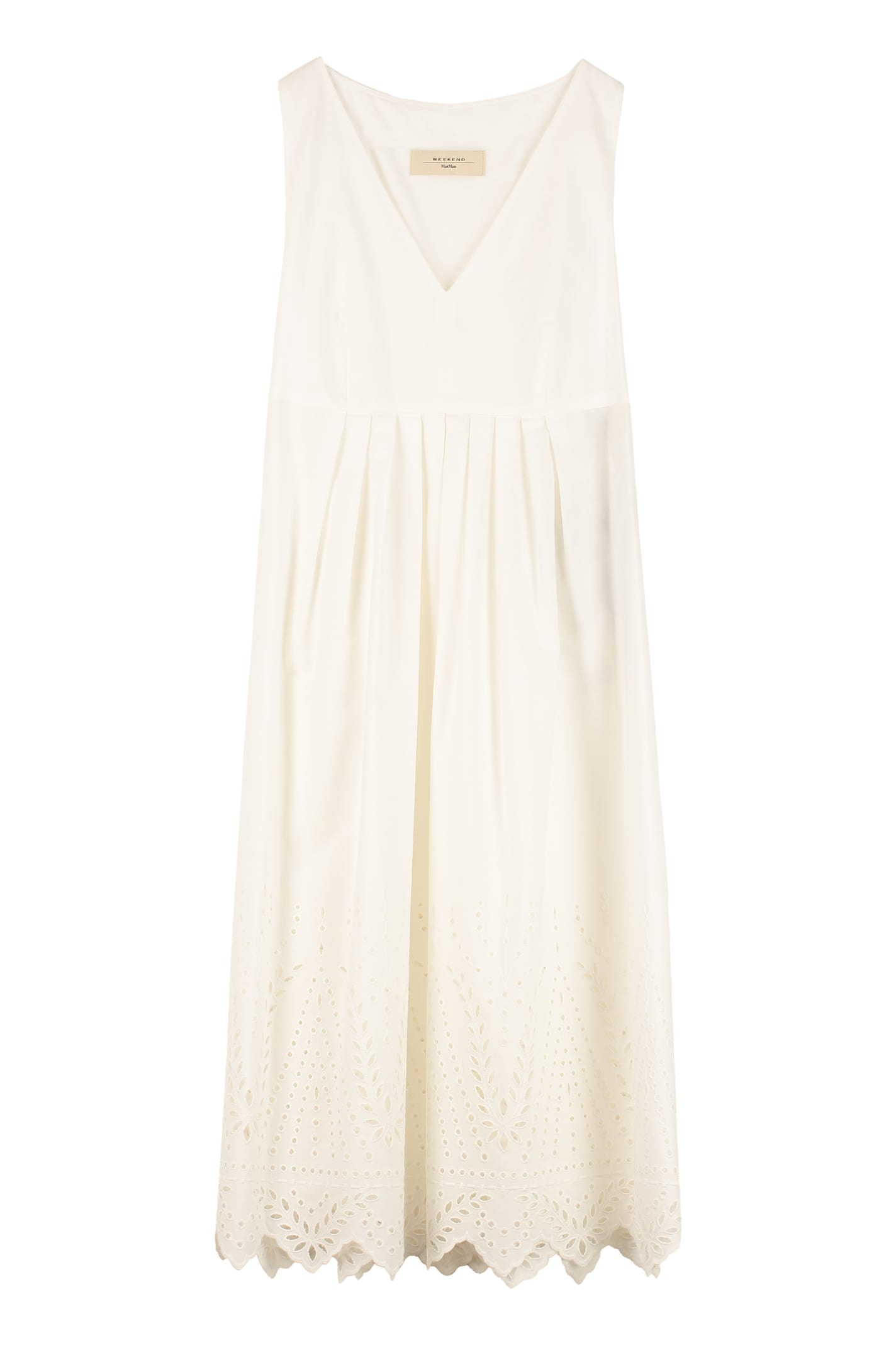 Buy Weekend Max Mara Anglaise Inserts Renna Cotton Maxi Dress online, shop Weekend Max Mara with free shipping