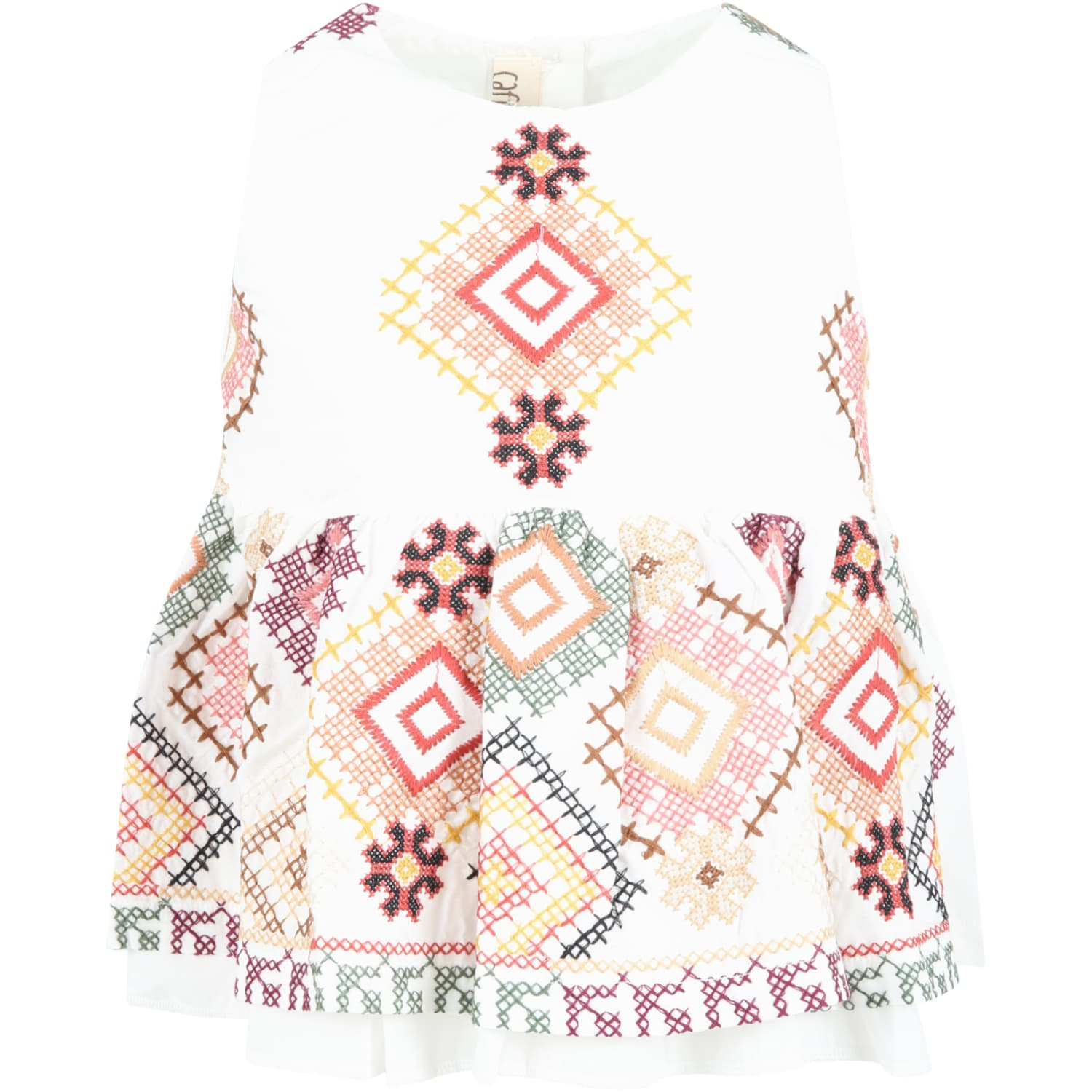 Caffe' D'orzo Tops WHITE SARA T-SHIRT FOR BABYGIRL