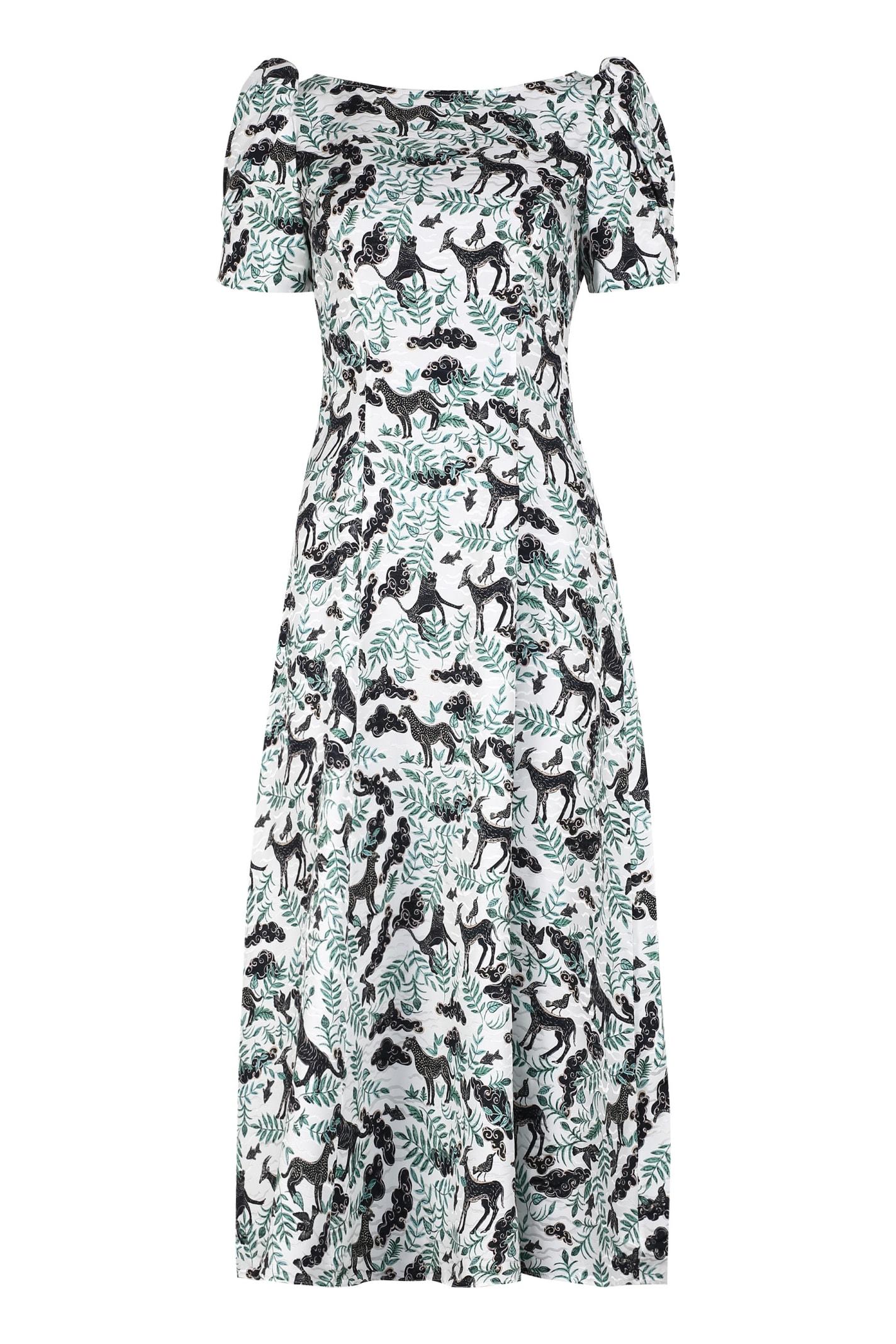 Buy Saloni Eva Printed Silk Dress online, shop Saloni with free shipping