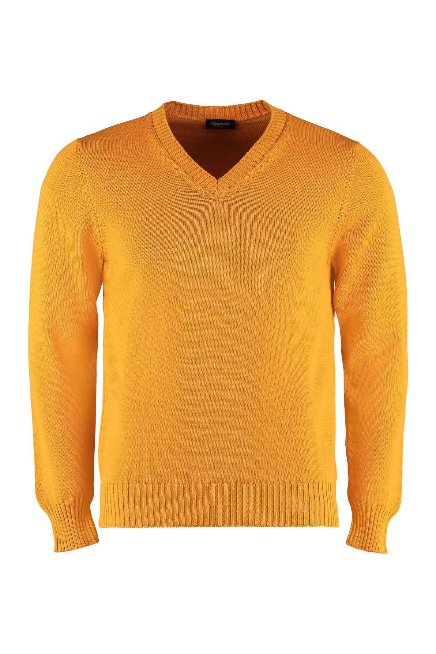 Drumohr Cotton V-neck Pullover