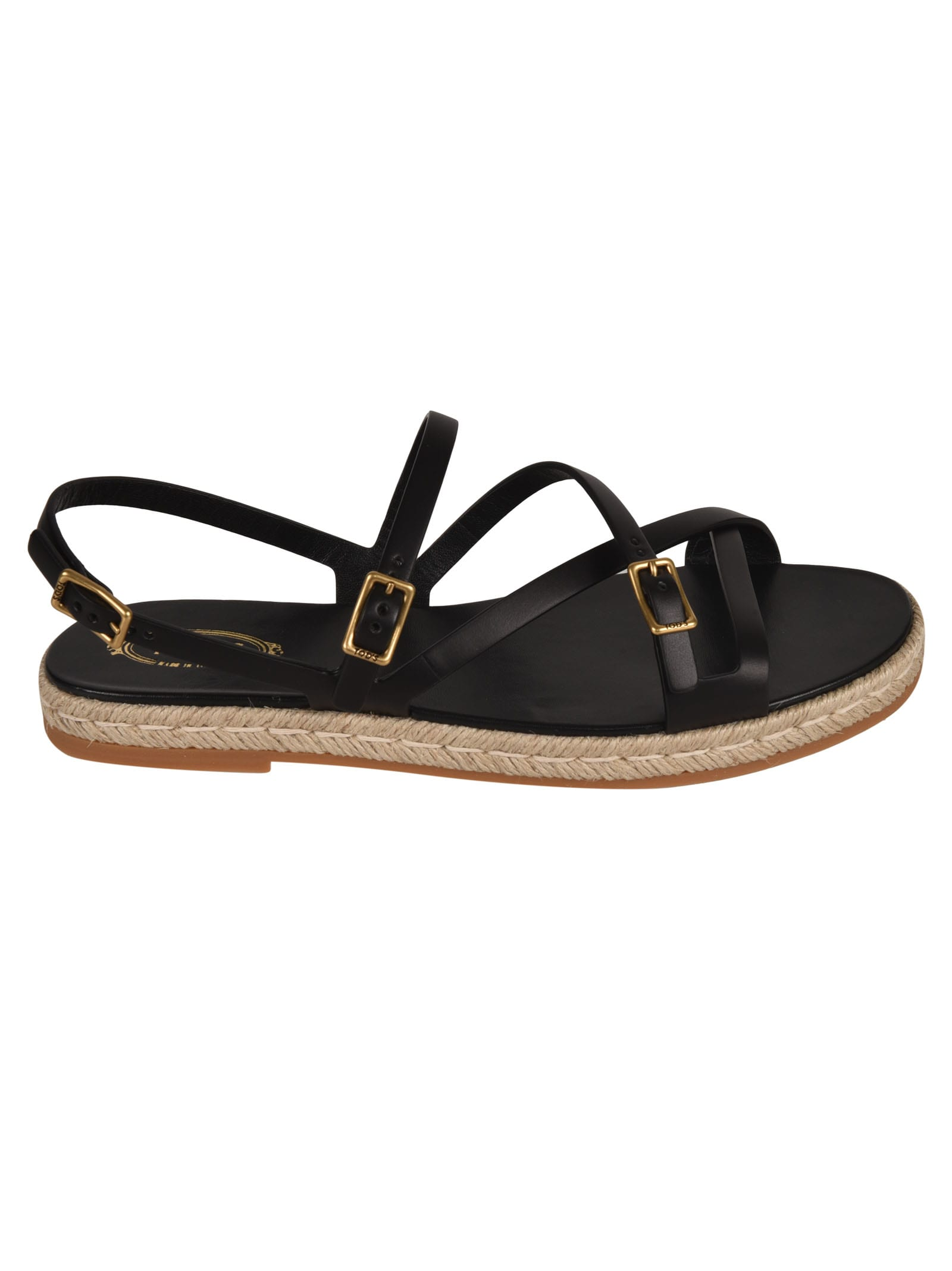 Tod's Sandals RAFFIA SOLE SANDALS
