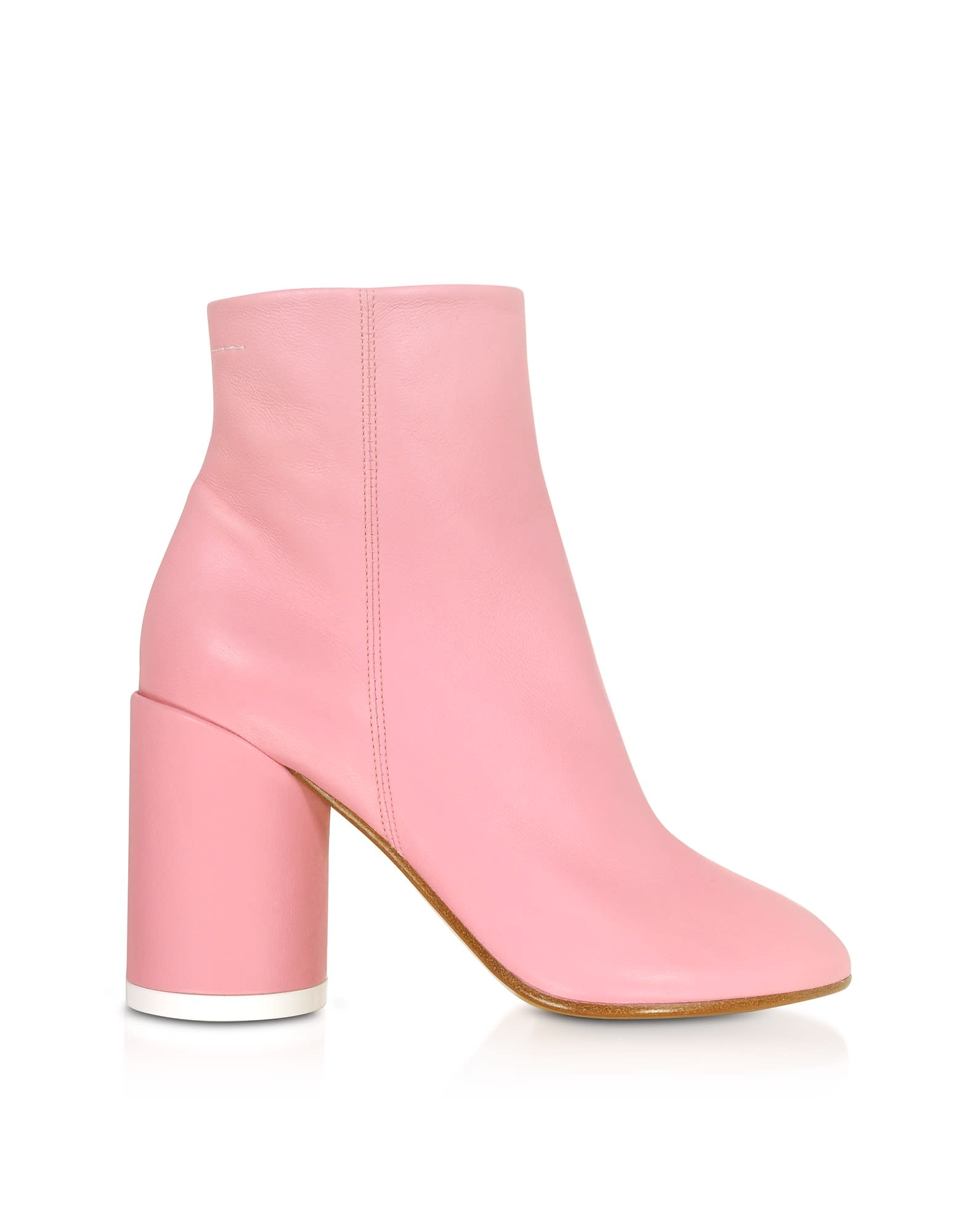 Mm6 Maison Martin Margiela Peony Pink Soft Nappa Leather Boots