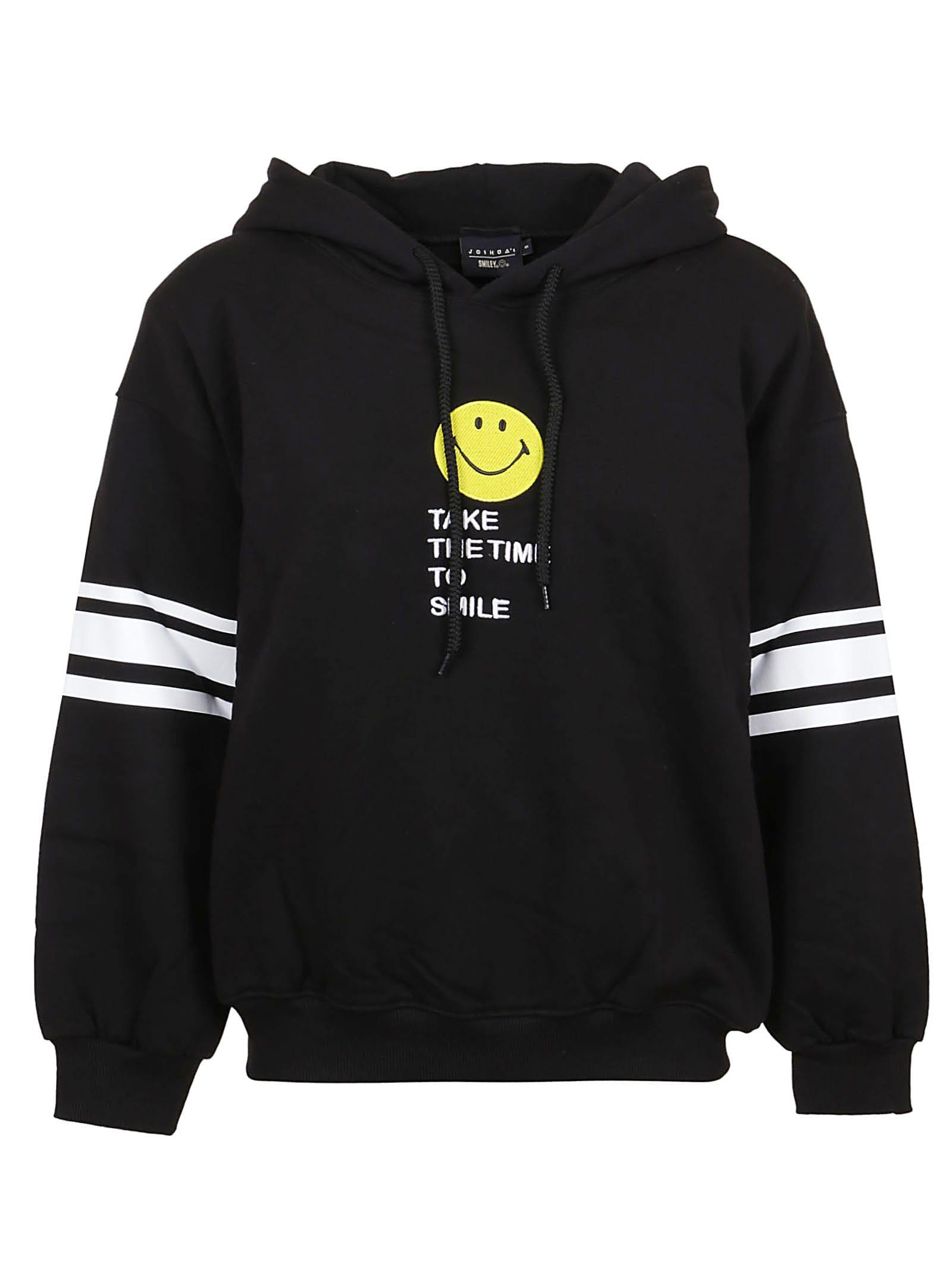 Black Football Smile Hoodie