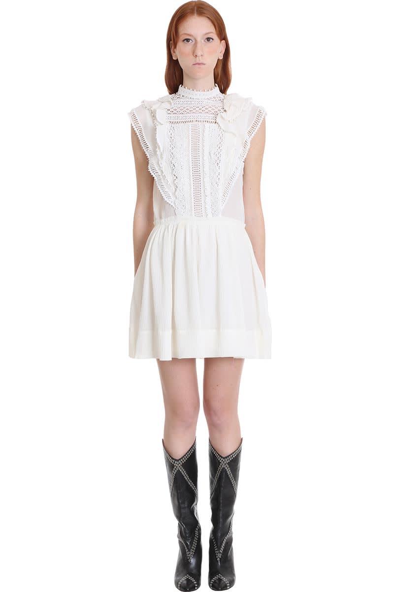 Buy Isabel Marant Ianelia Dress In White Cotton online, shop Isabel Marant with free shipping