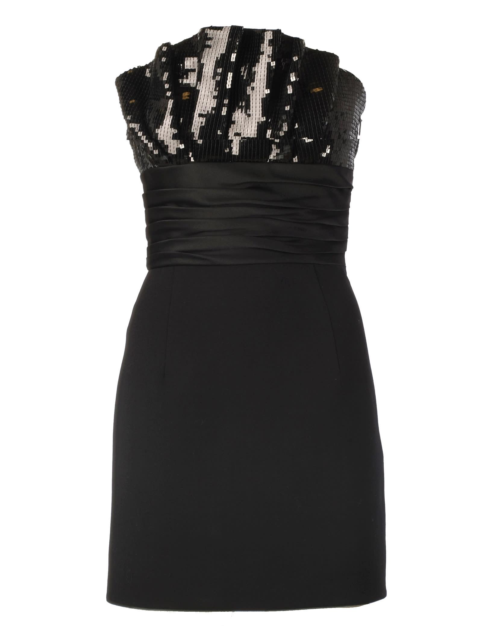 Saint Laurent Ruffled Bustier Mini Dress