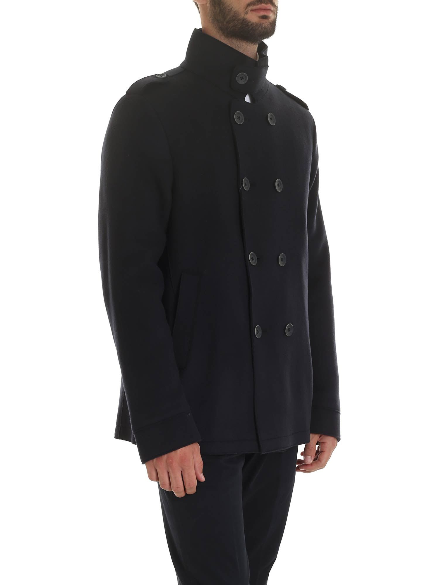 best place official images official site Herno High Neck Peacoat