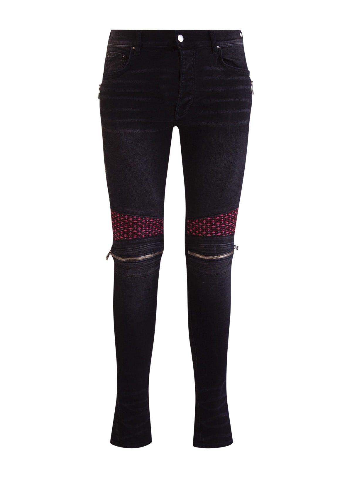 Amiri Contrast-panel Slim-fit Jeans