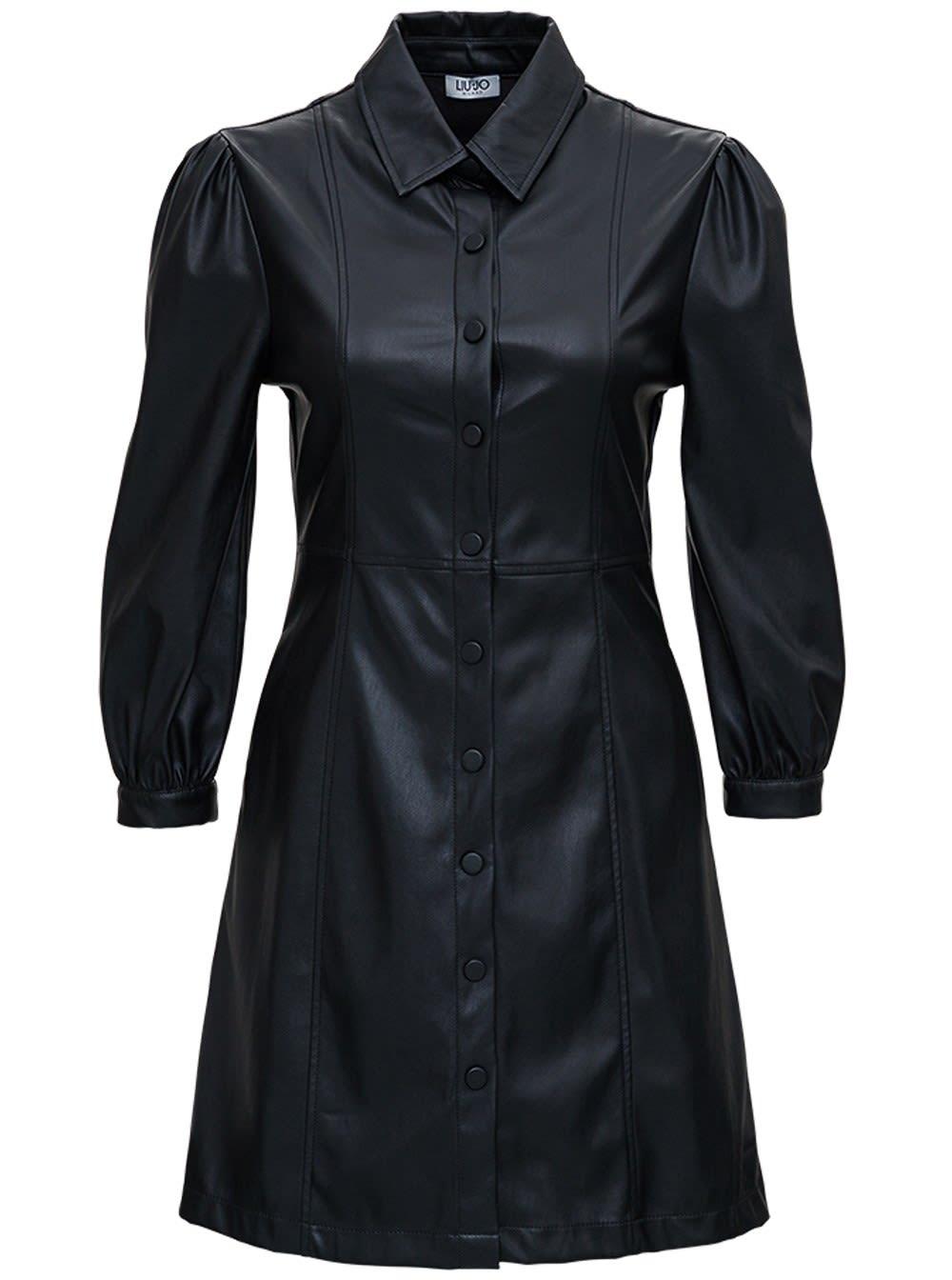 Liu-Jo Black Leatheret Dress