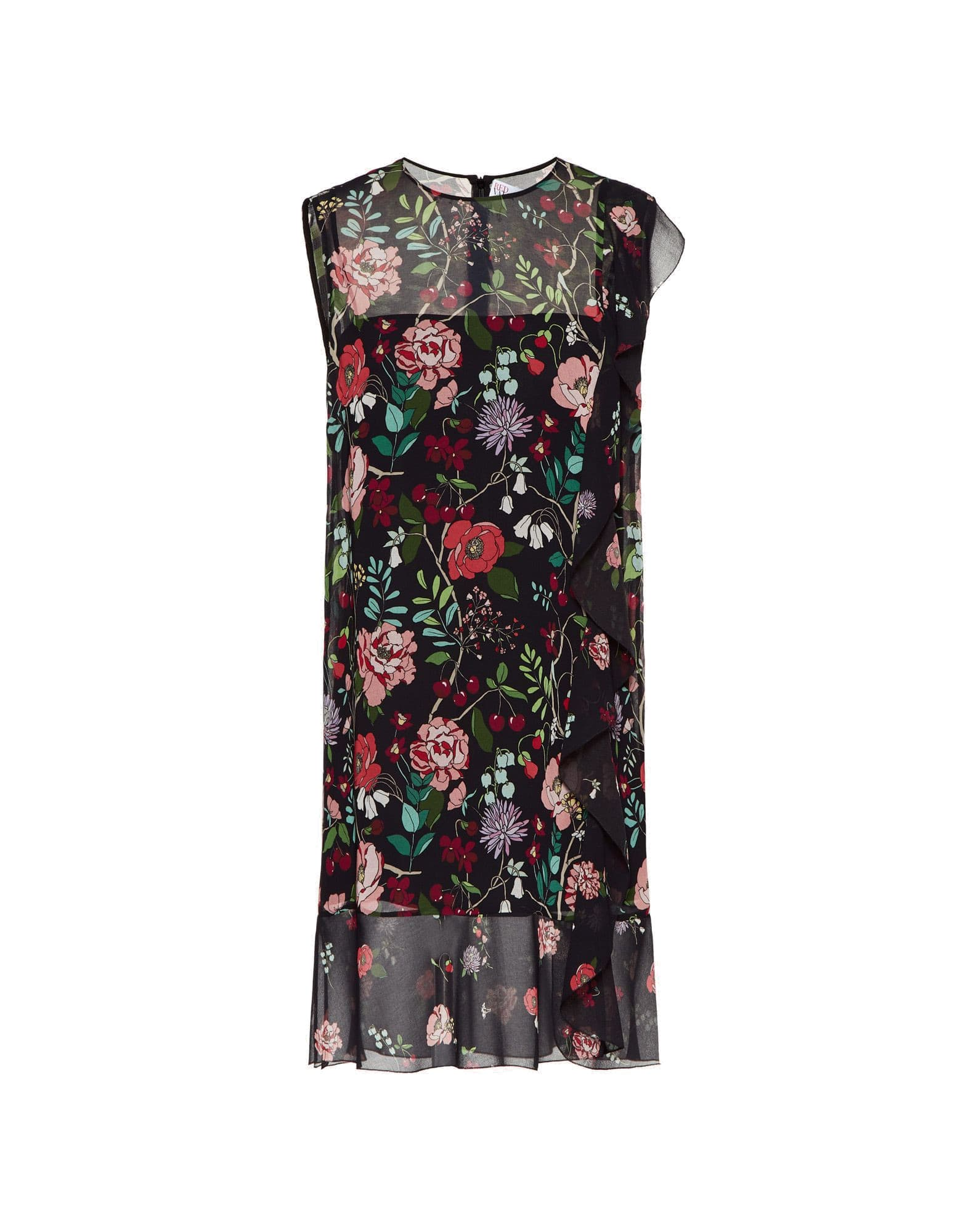 RED Valentino Flowers And Cherries Print Dress
