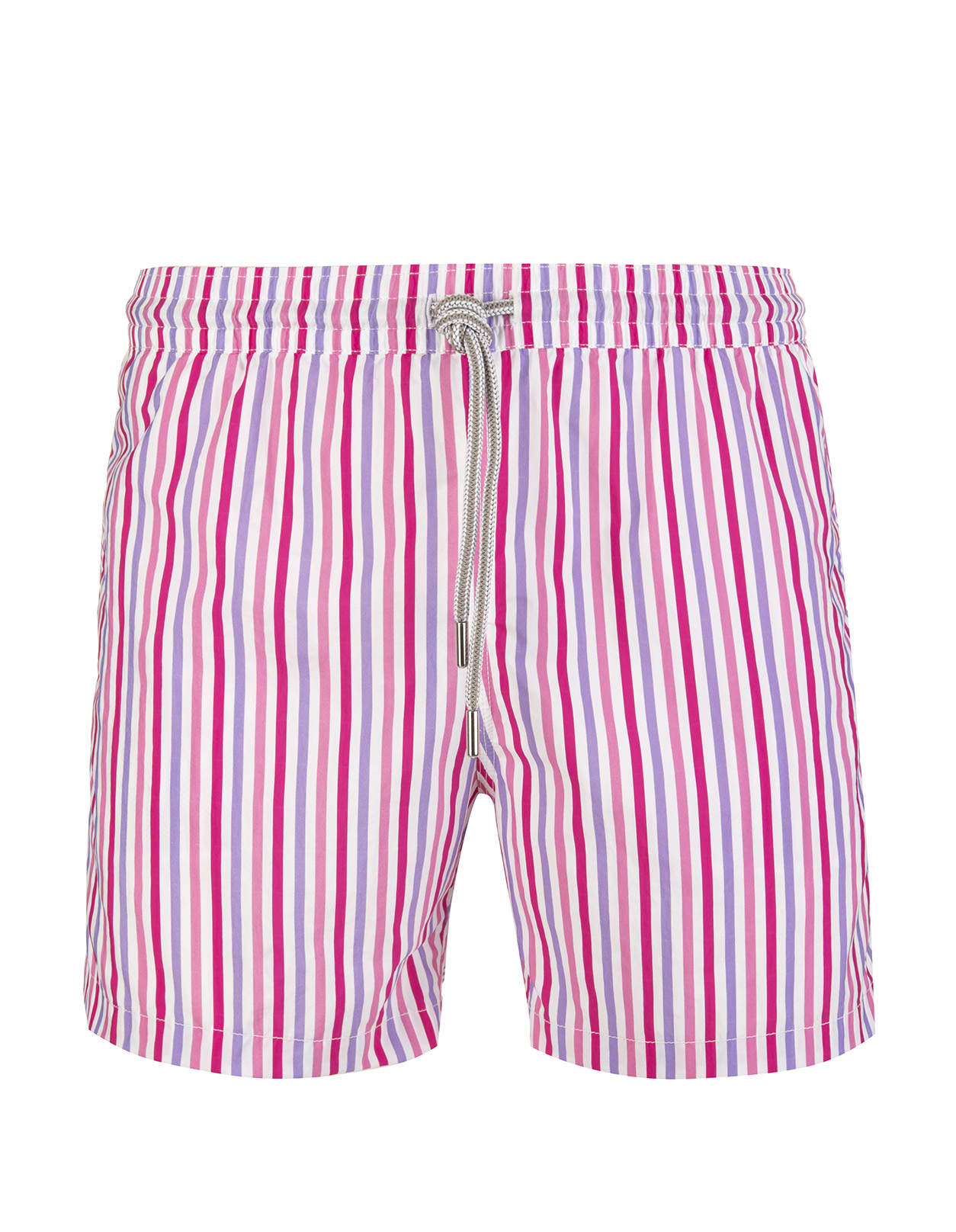Pink And Purple Thin Striped Swimsuit