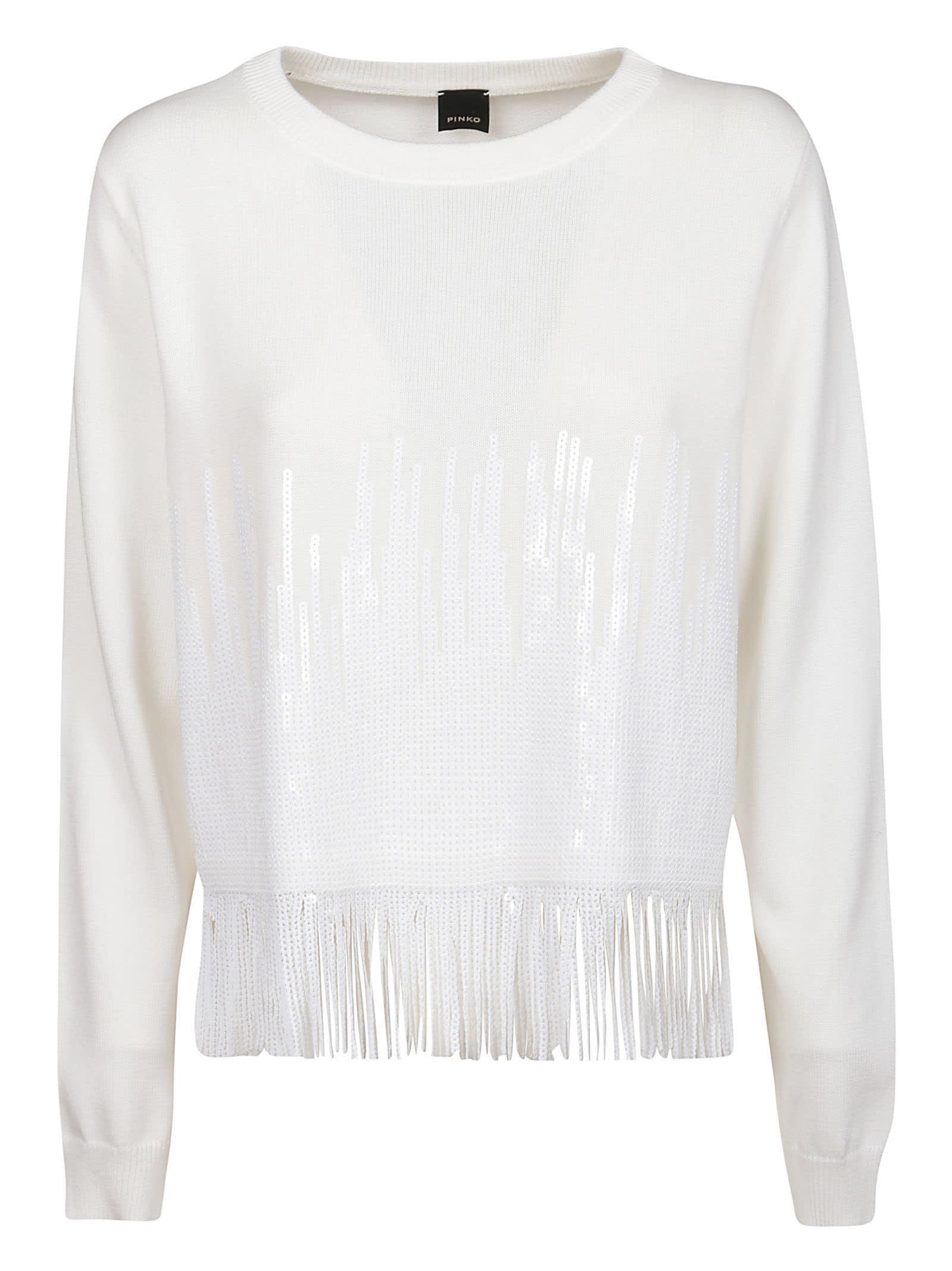 Pinko Cottons WHITE COTTON SWEATER